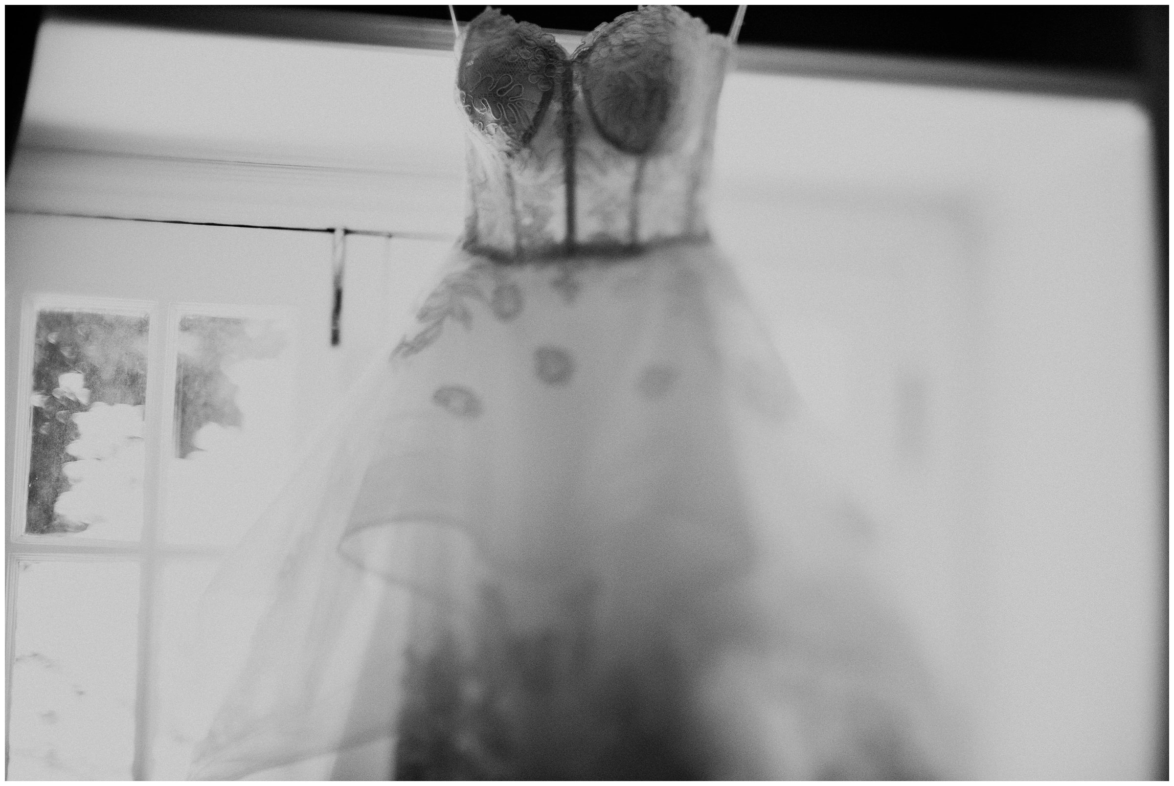 black and white photo of wedding dress free lensed