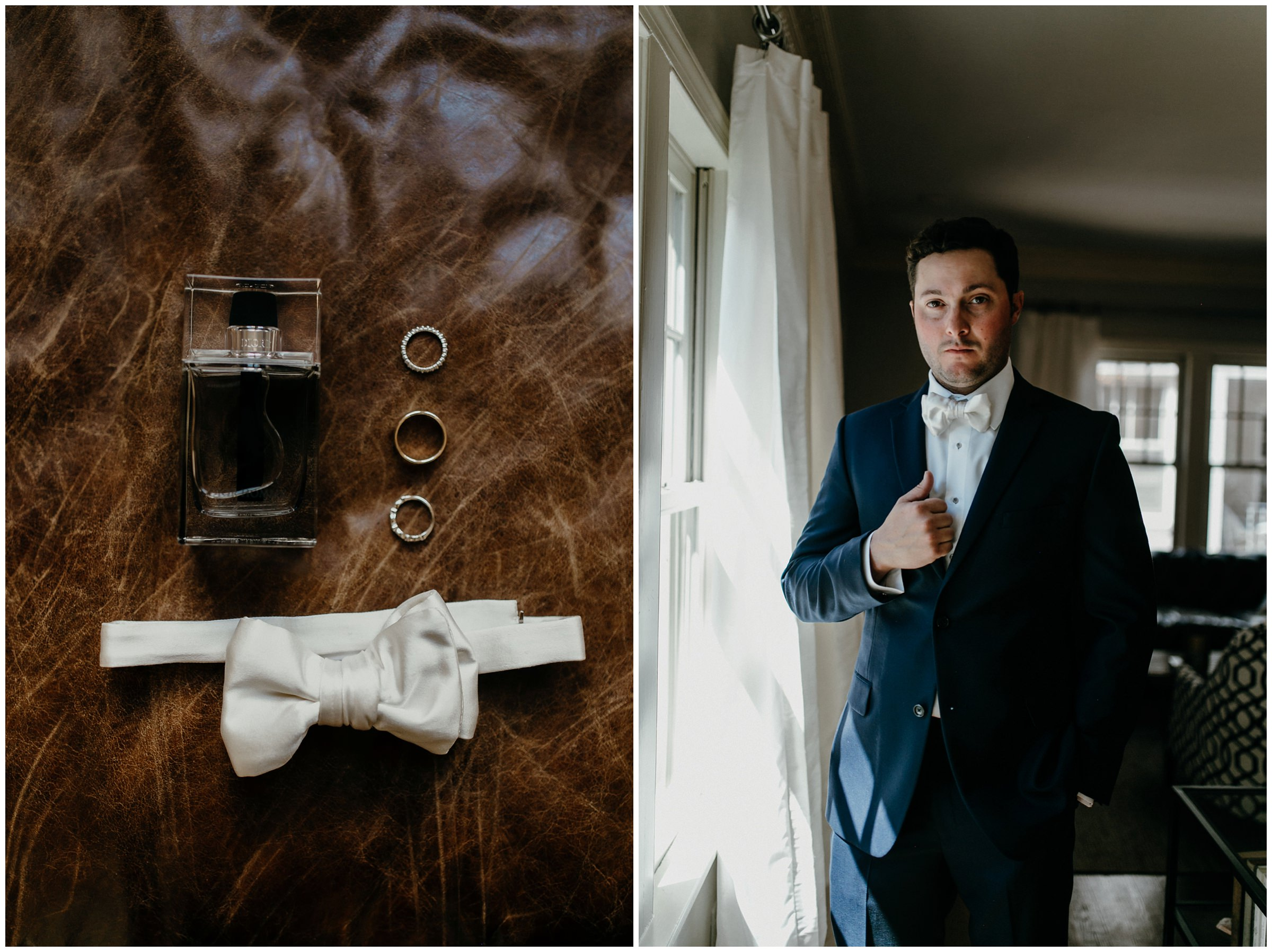 groom getting ready for tulsa oklahoma wedding