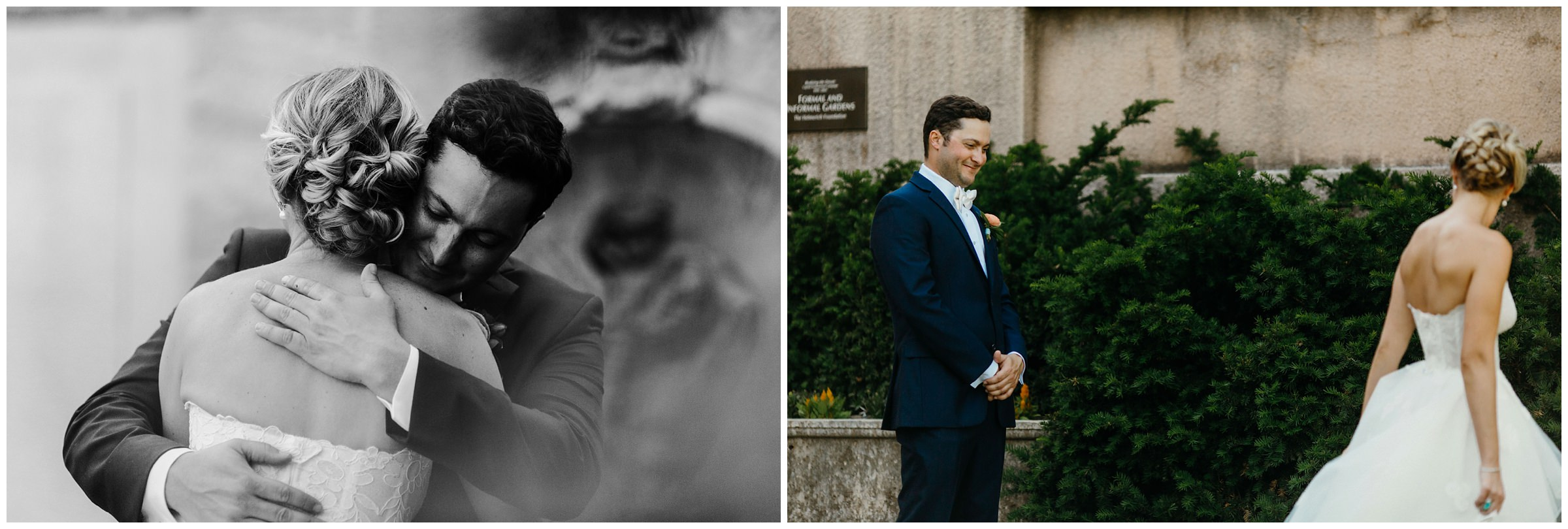 first look at philbrook museum wedding
