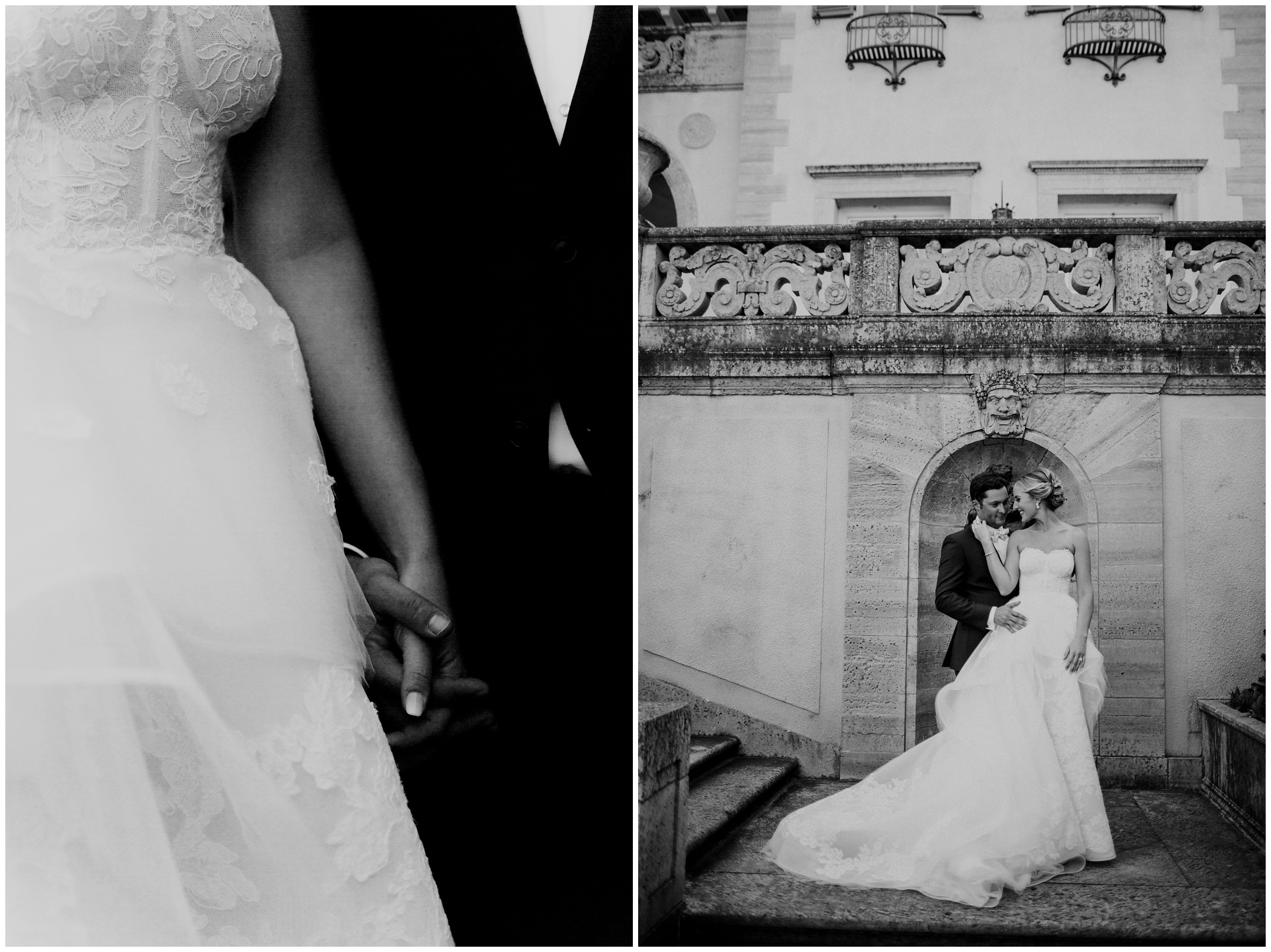 elegant couple at philbrook museum wedding