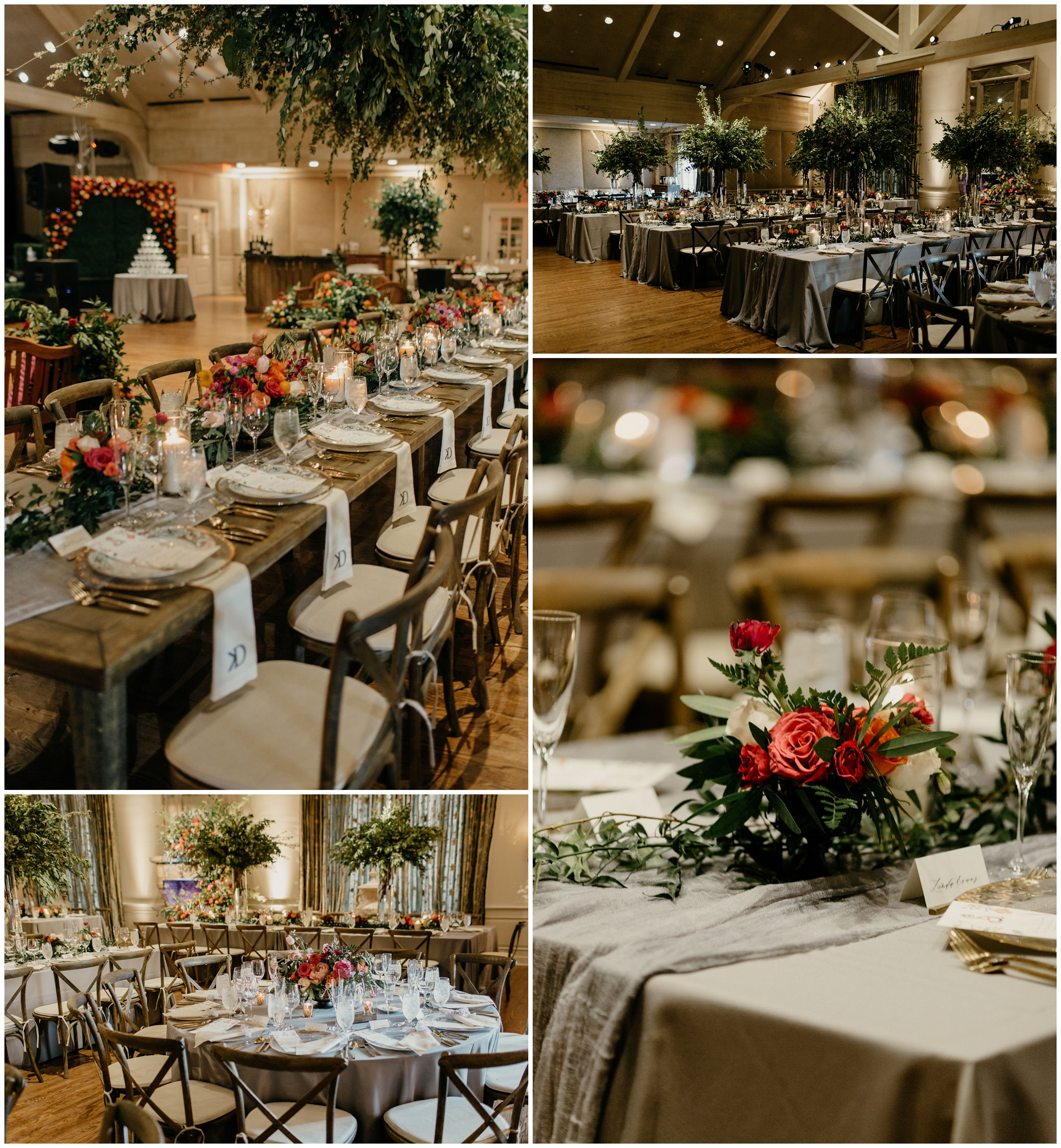 crooked roots design at southern hills country club wedding
