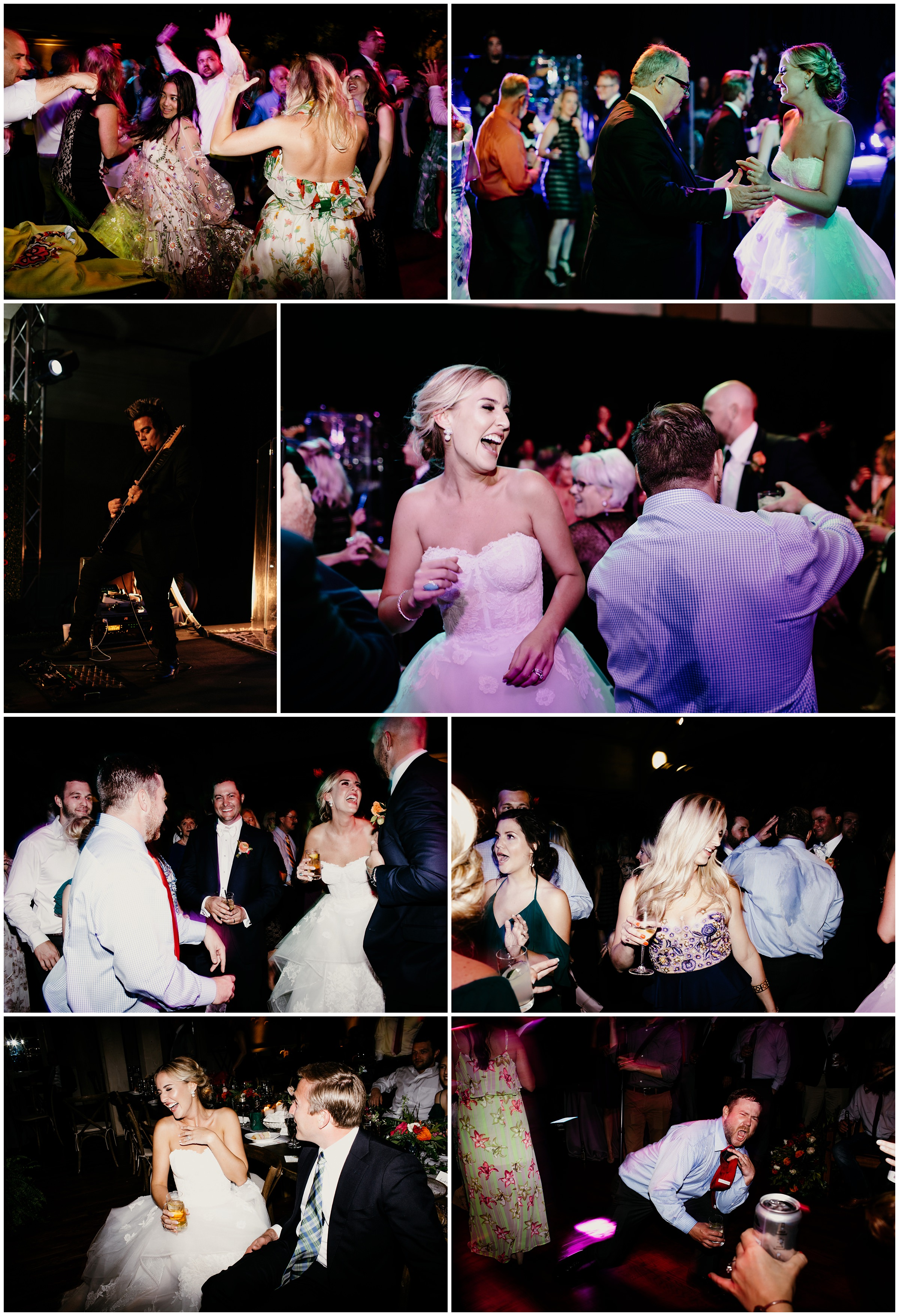 dance floor at southern hills country club wedding