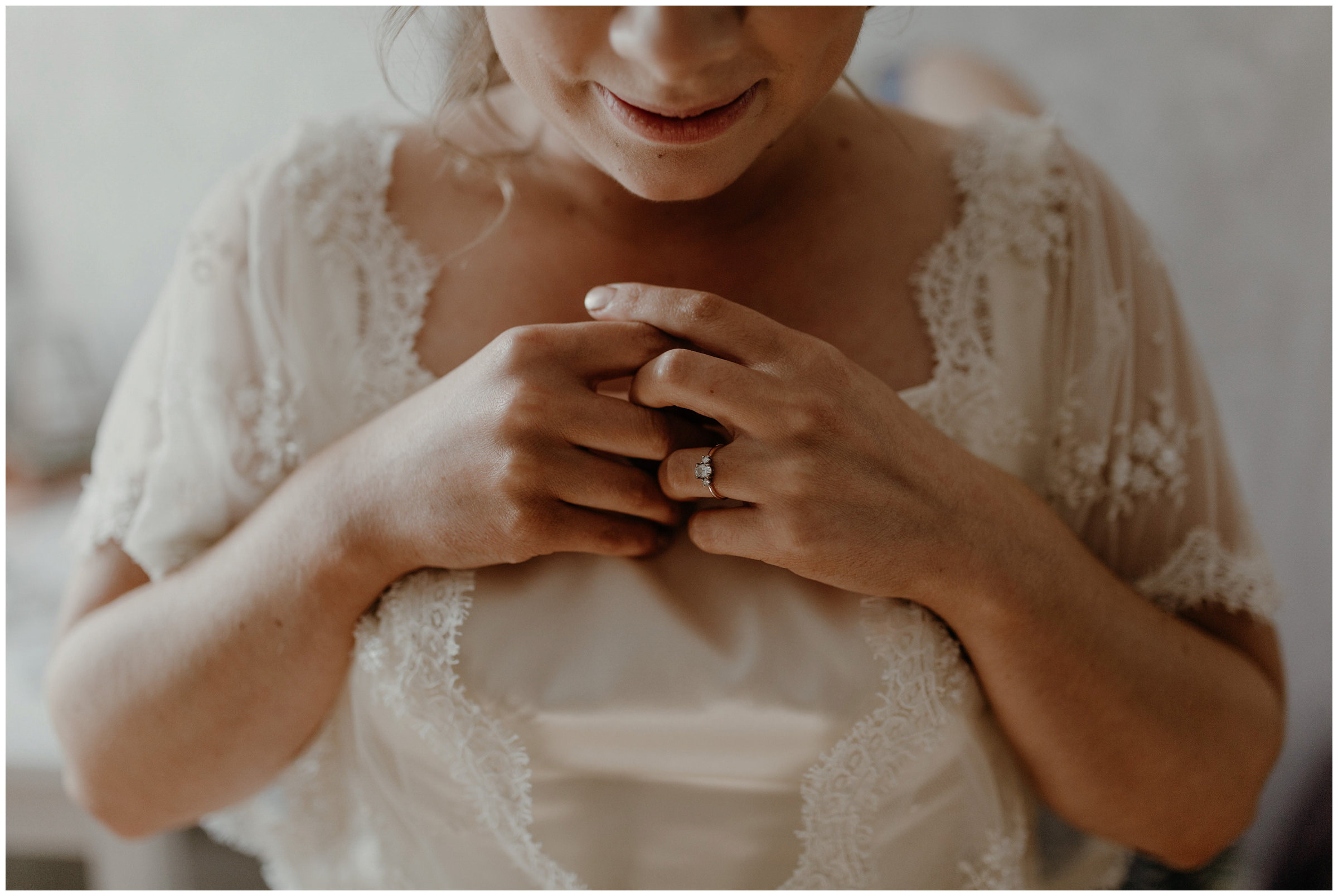 bride anxiously waiting