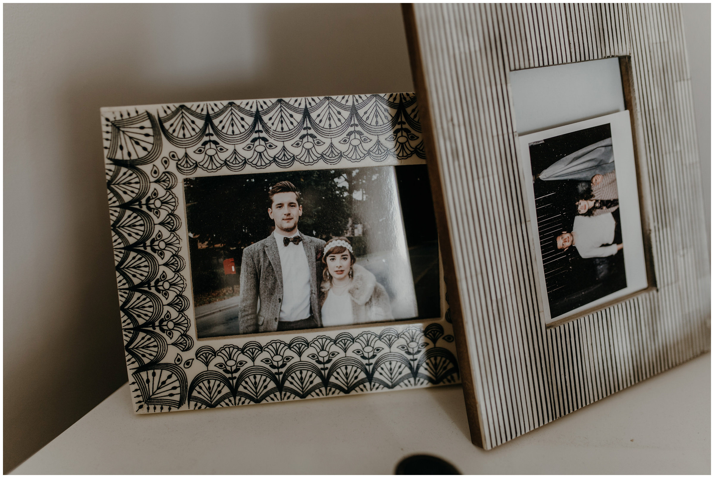 bride and groom instax