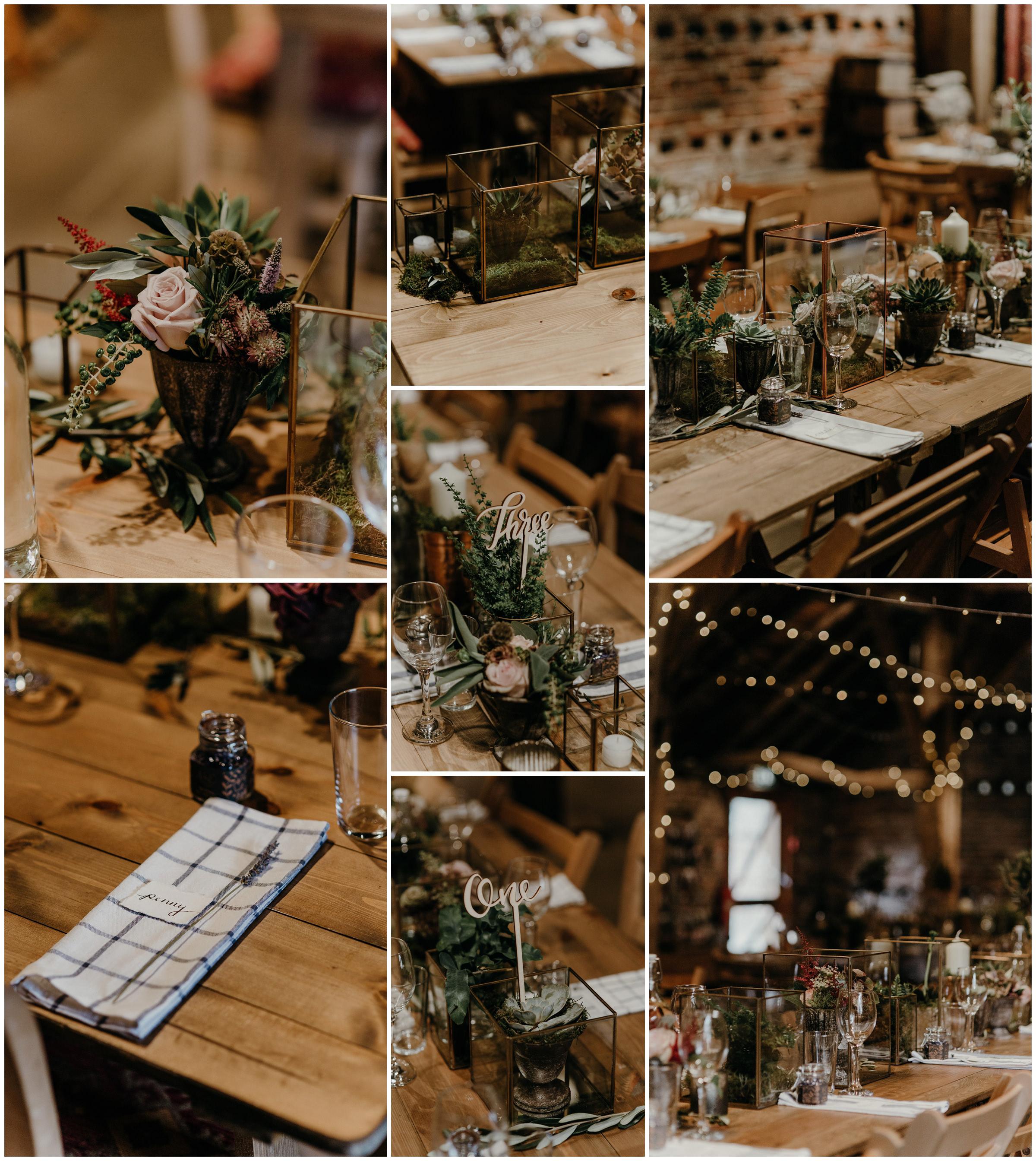 poppleton tithe barn and stem florals details york england wedding photography