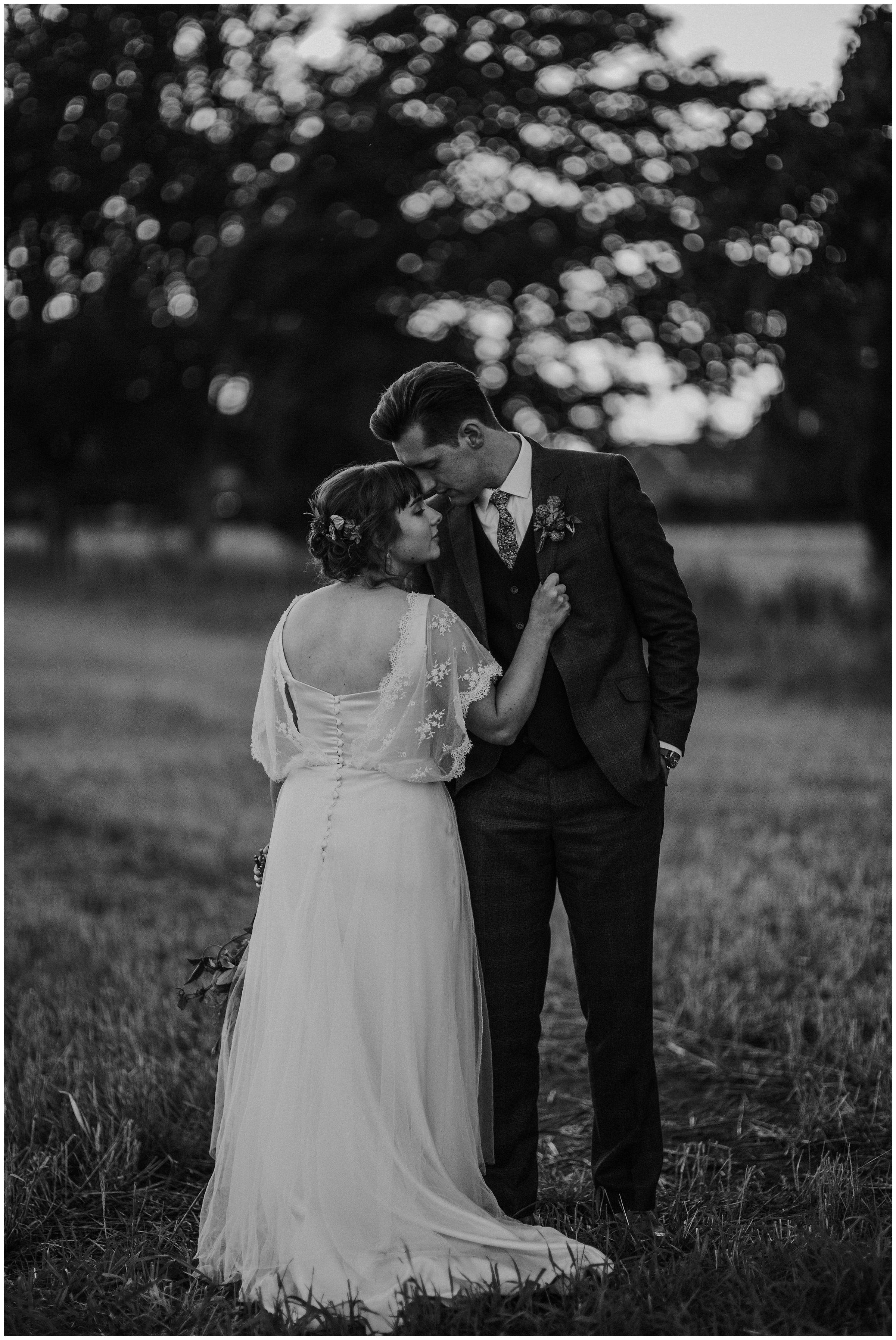 romantic photo of couple at wedding york england