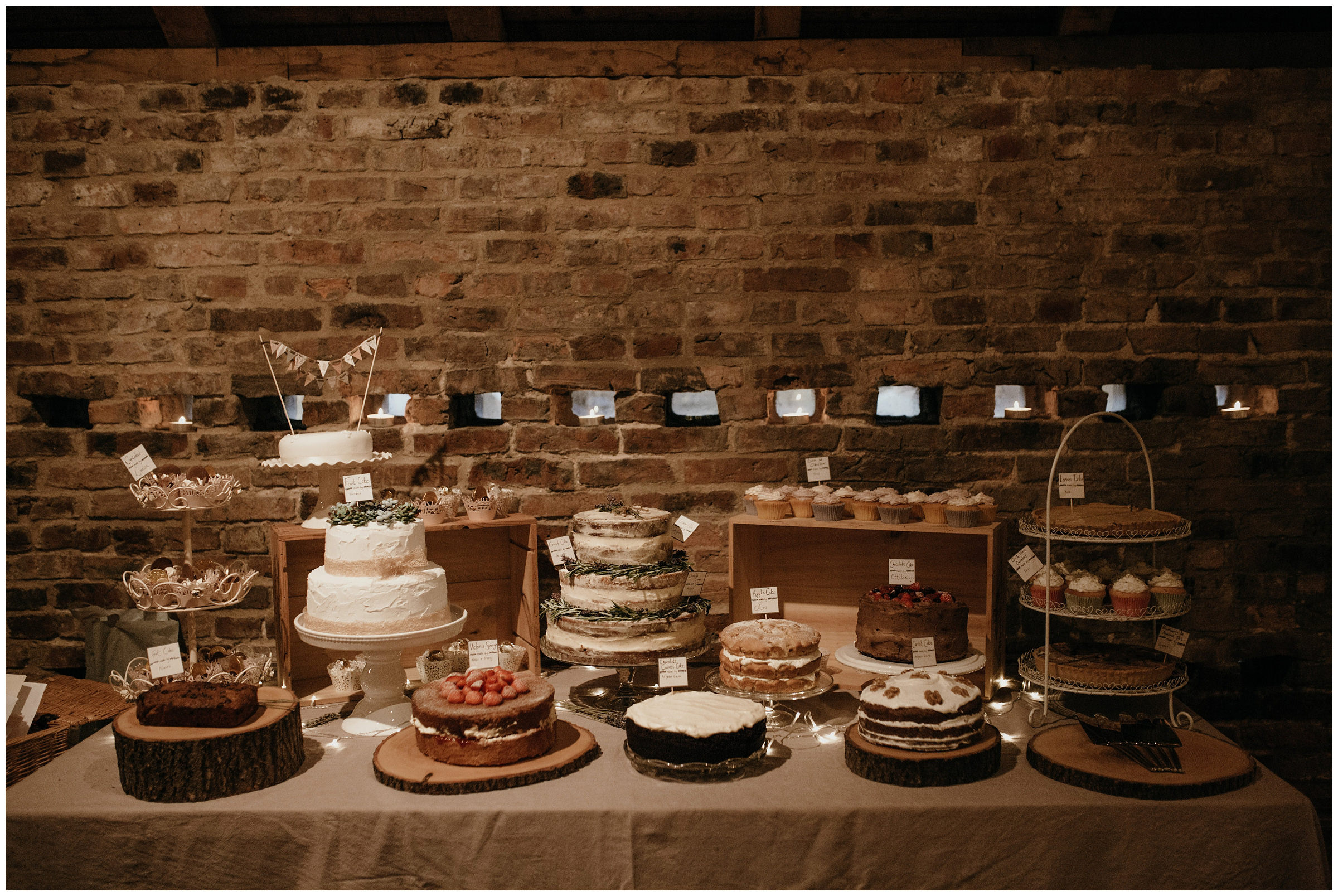 cakes at poppleton tithe barn