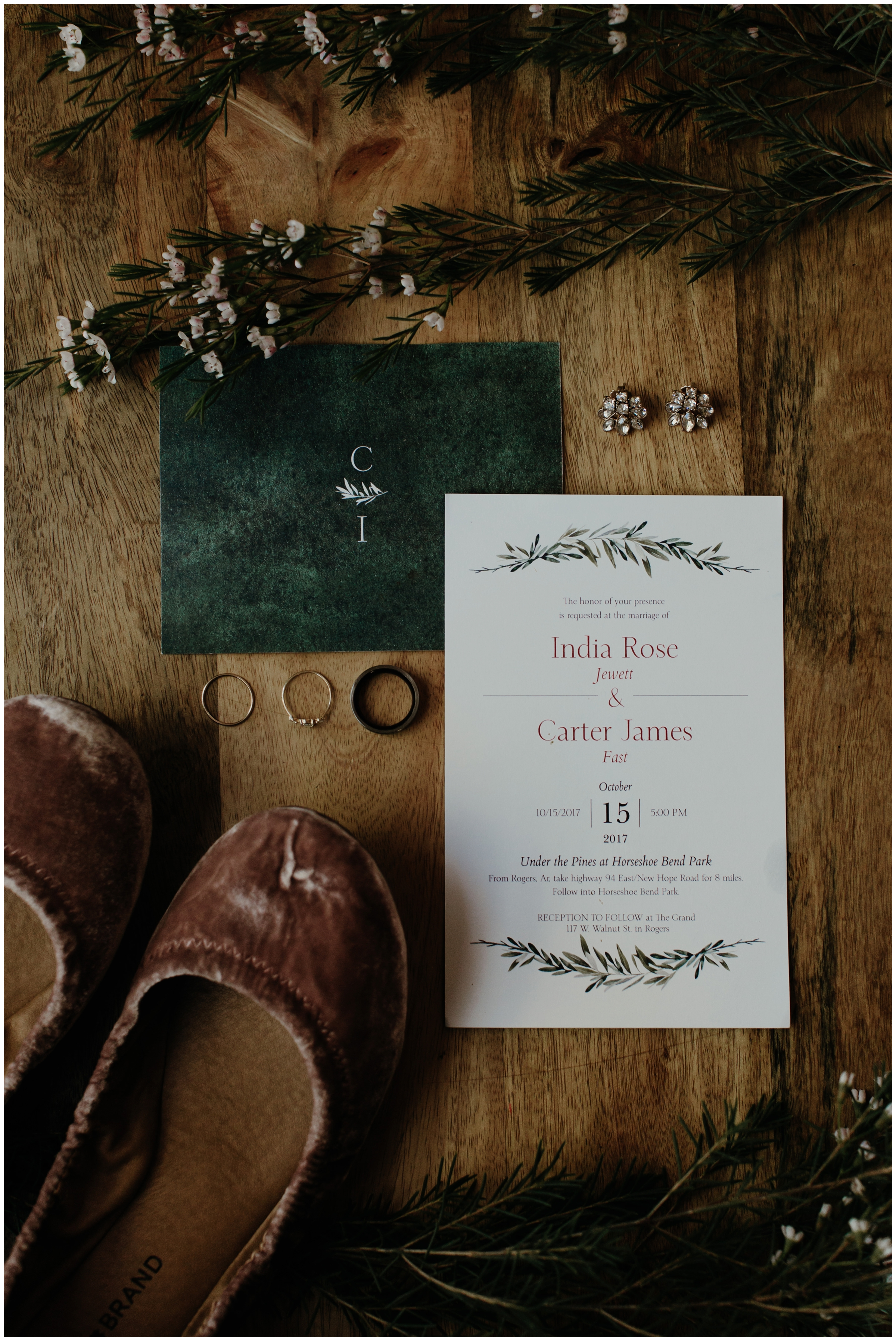 forest themed invitation suite