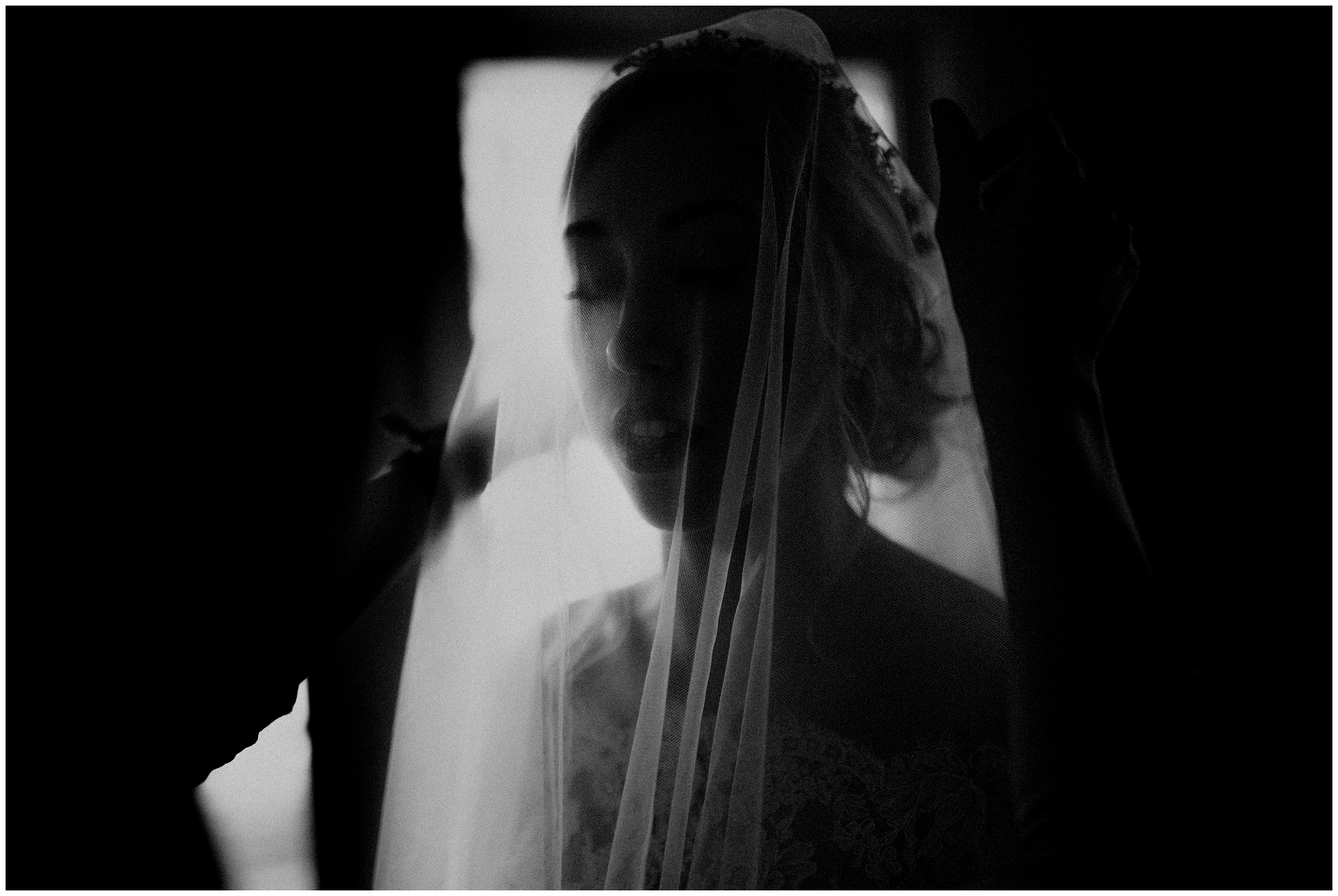 bride under cathedral veil