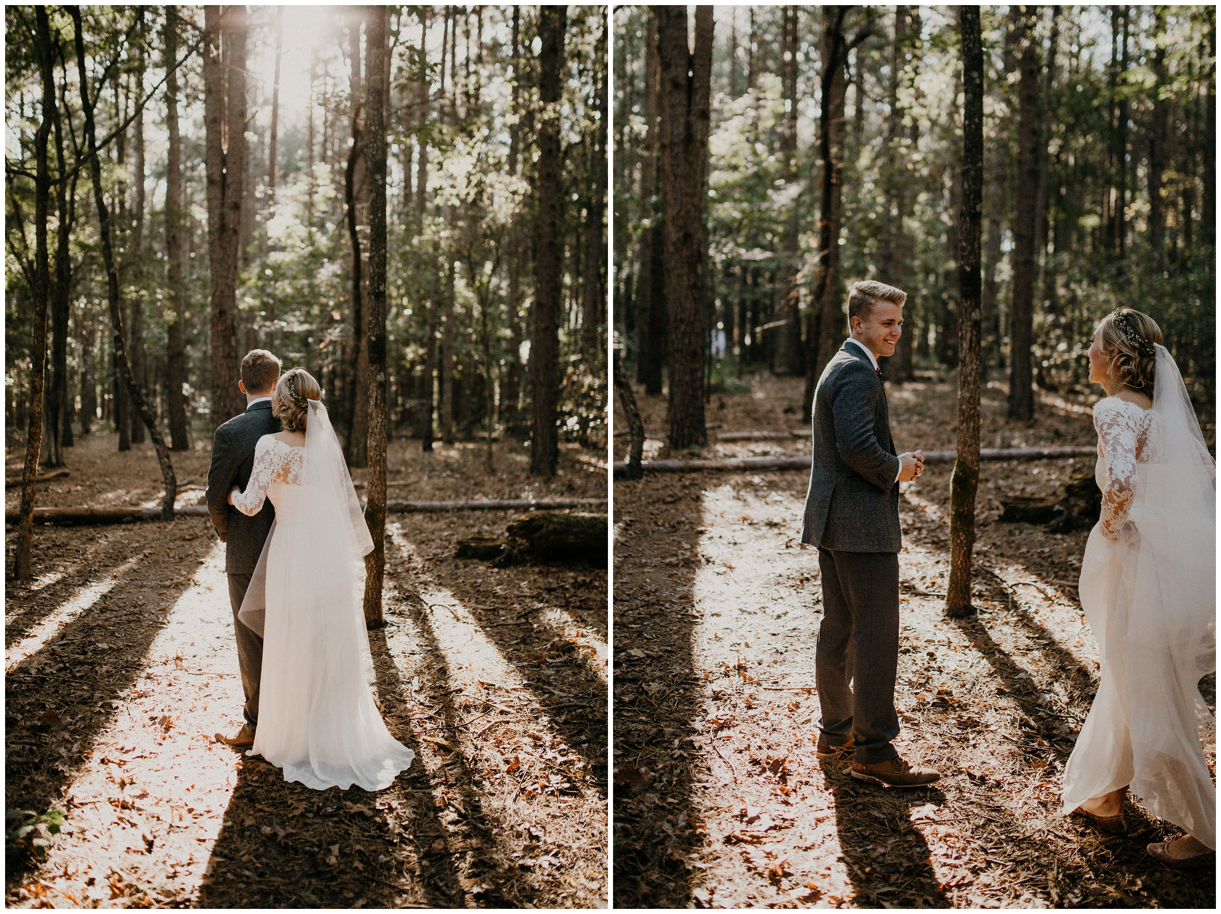 first look arkansas wedding