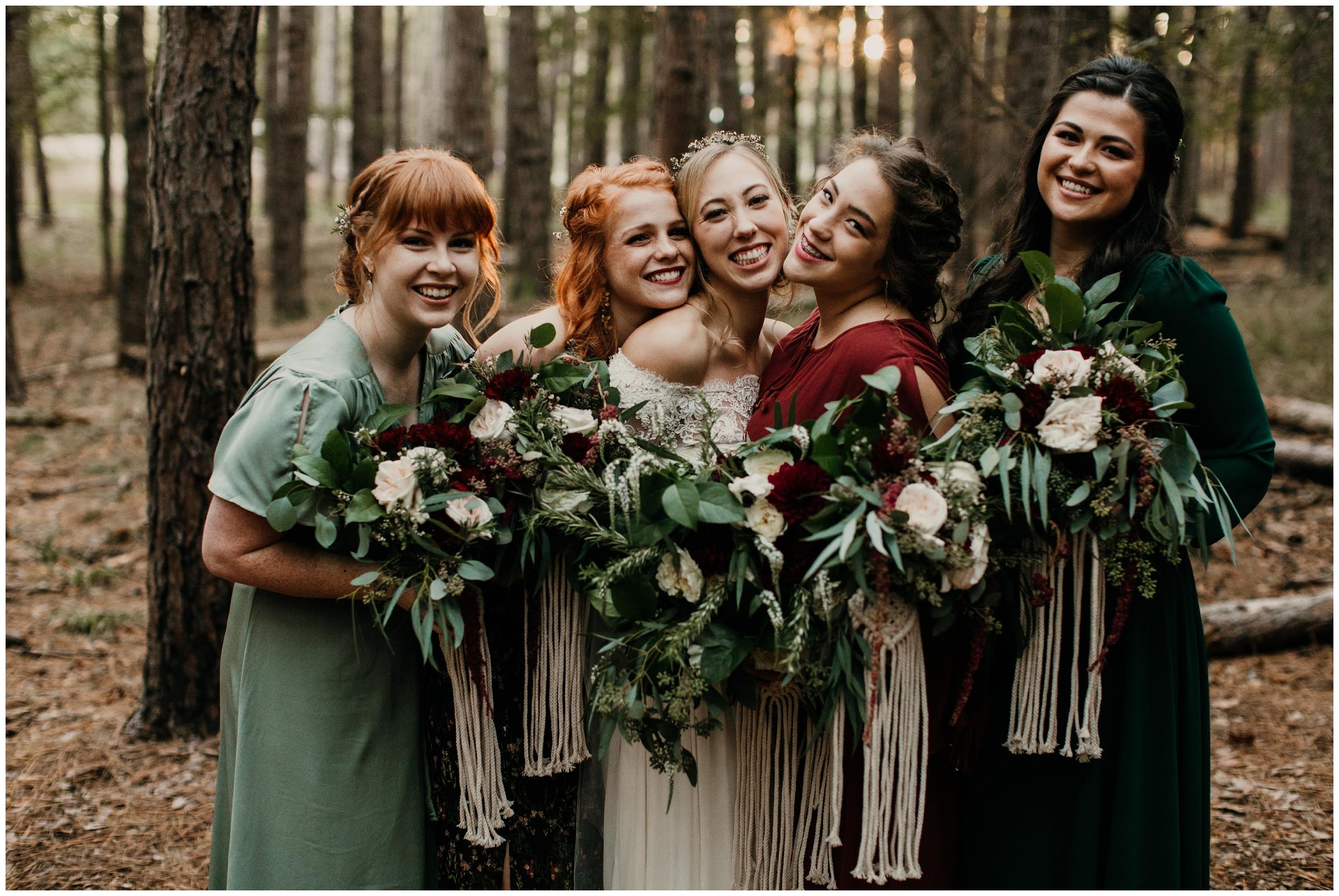 boho bridesmaids macrame