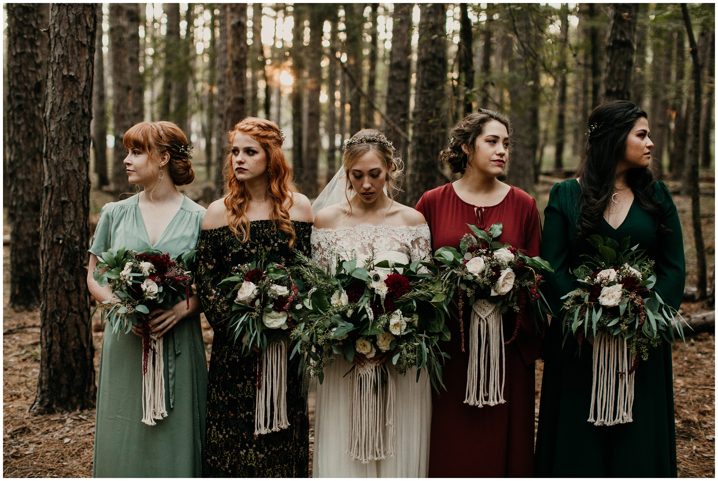 boho bridesmaids style macrame bouquet