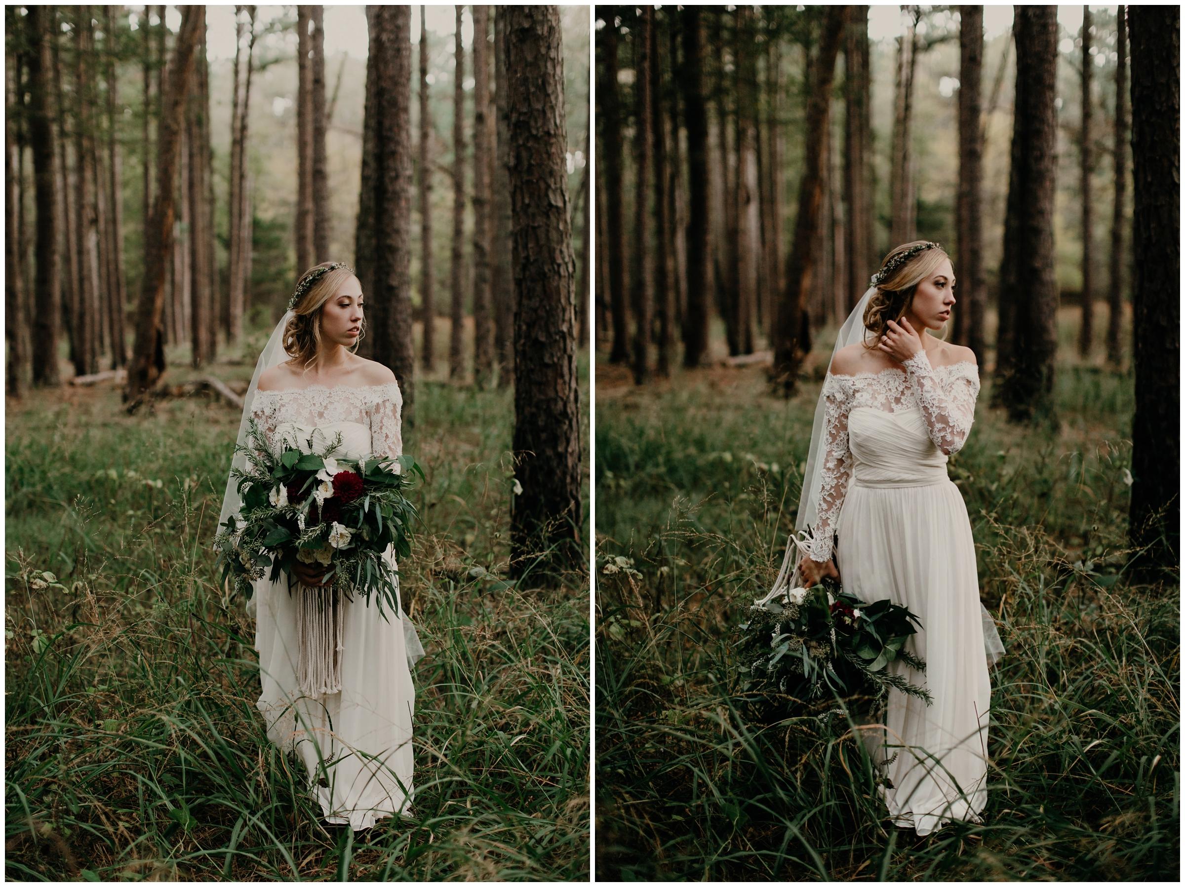 27 rue de fleur bouquet forest boho bride arkansas