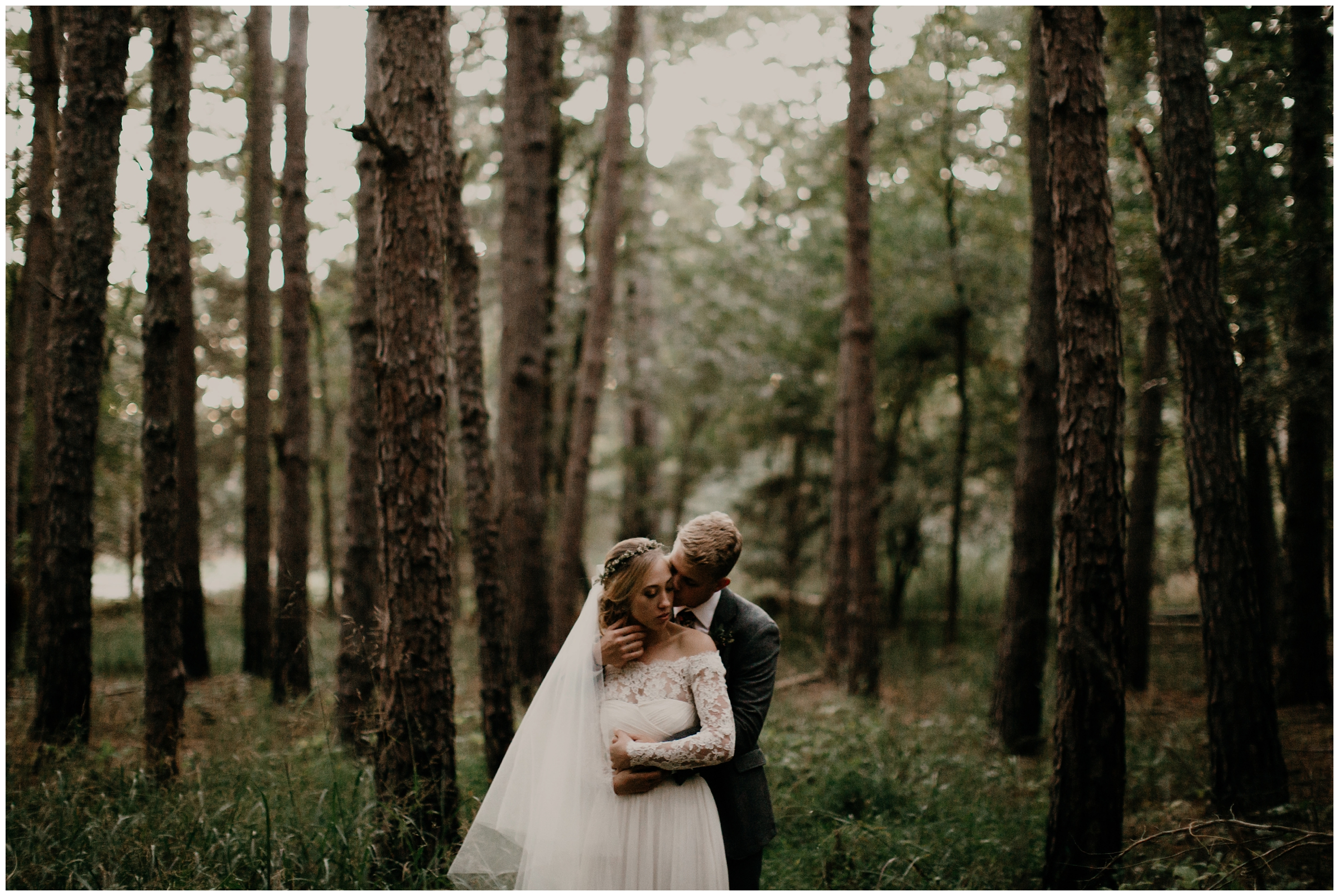 rogers arkansas forest wedding photography