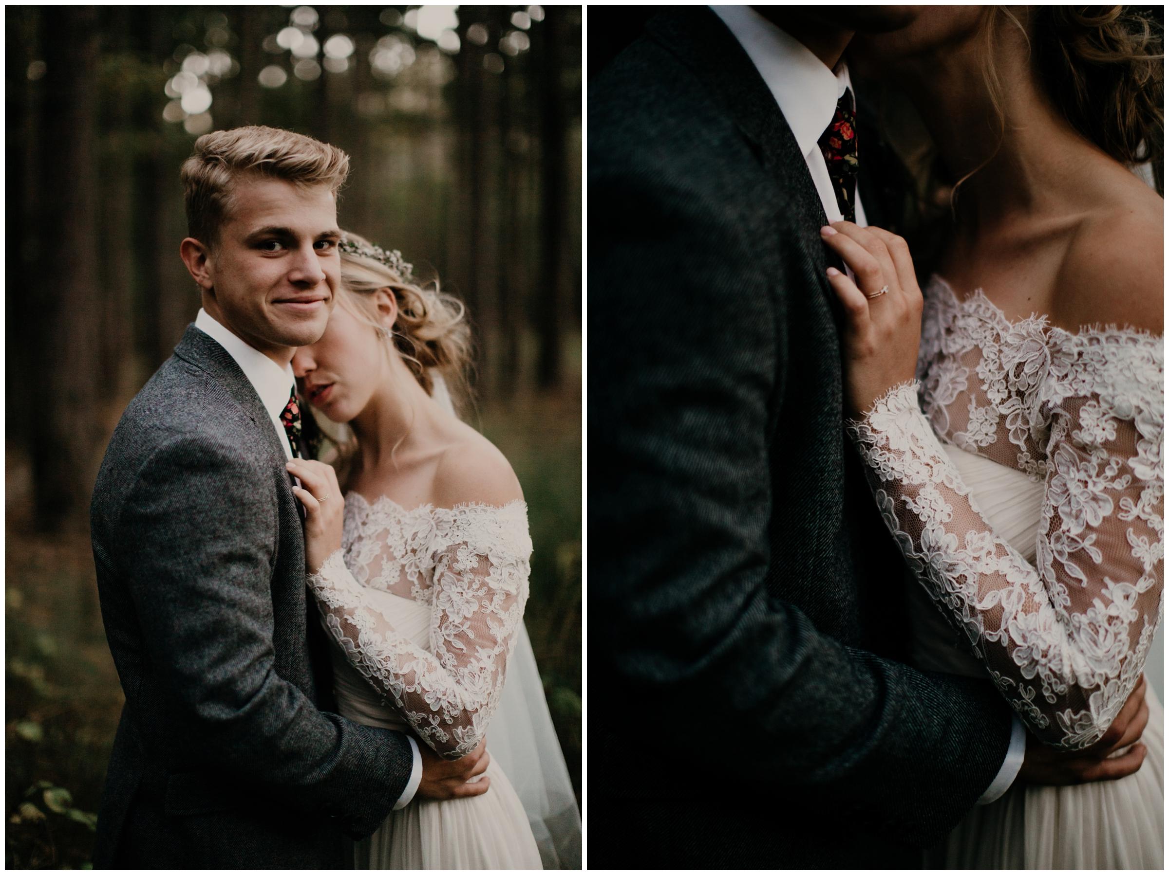tweed coat groom style
