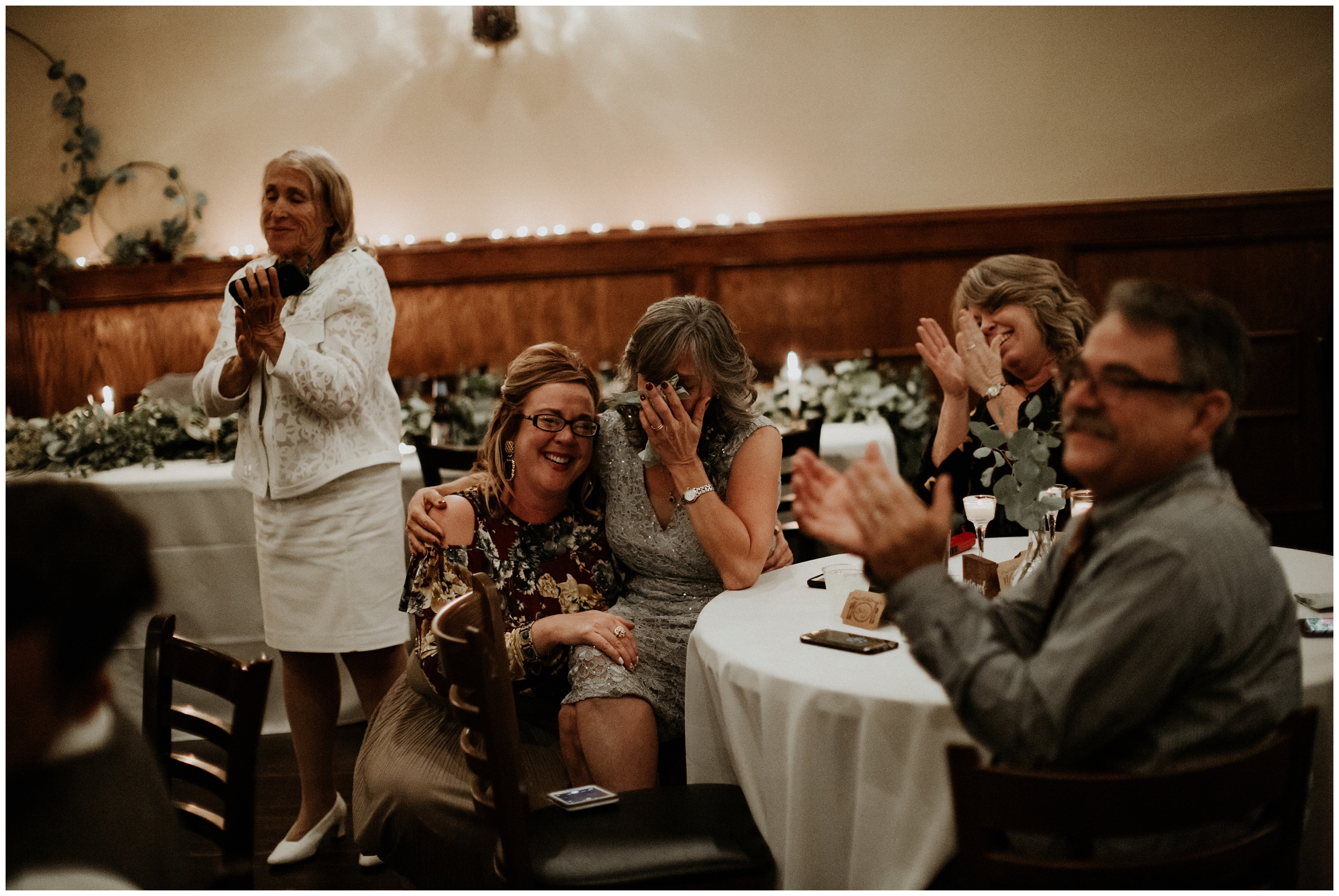 mother crying during couples first dance at arkansas wedding