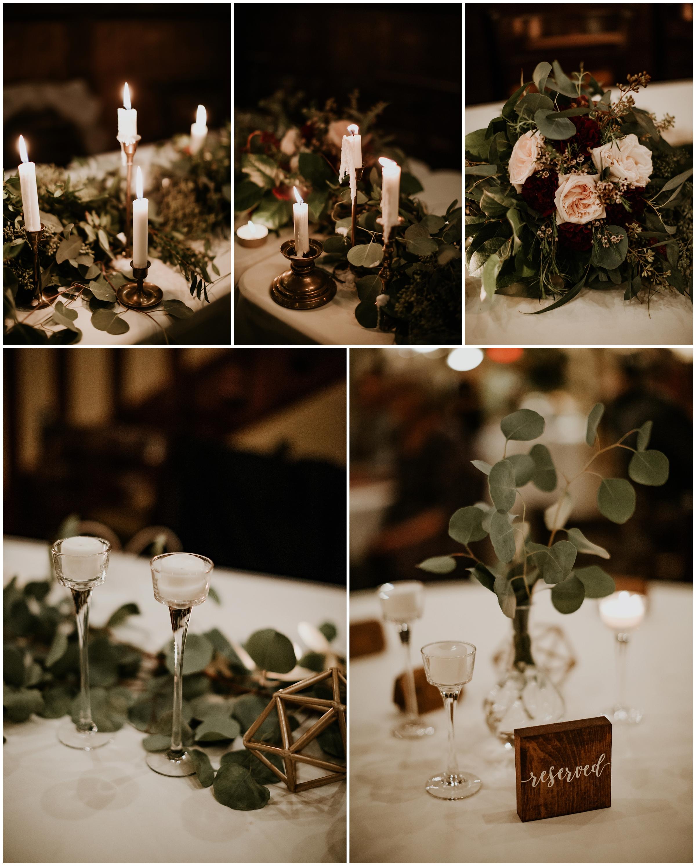 diy floral garland at the grand at 117 rogers arkansas wedding photography