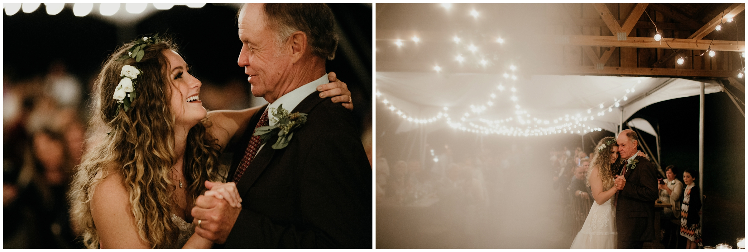 bride dances with grandfather