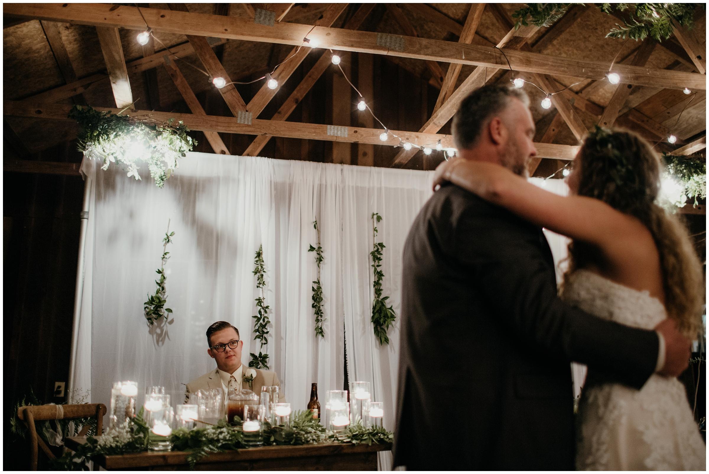 father daughter dance at arkansas wedding