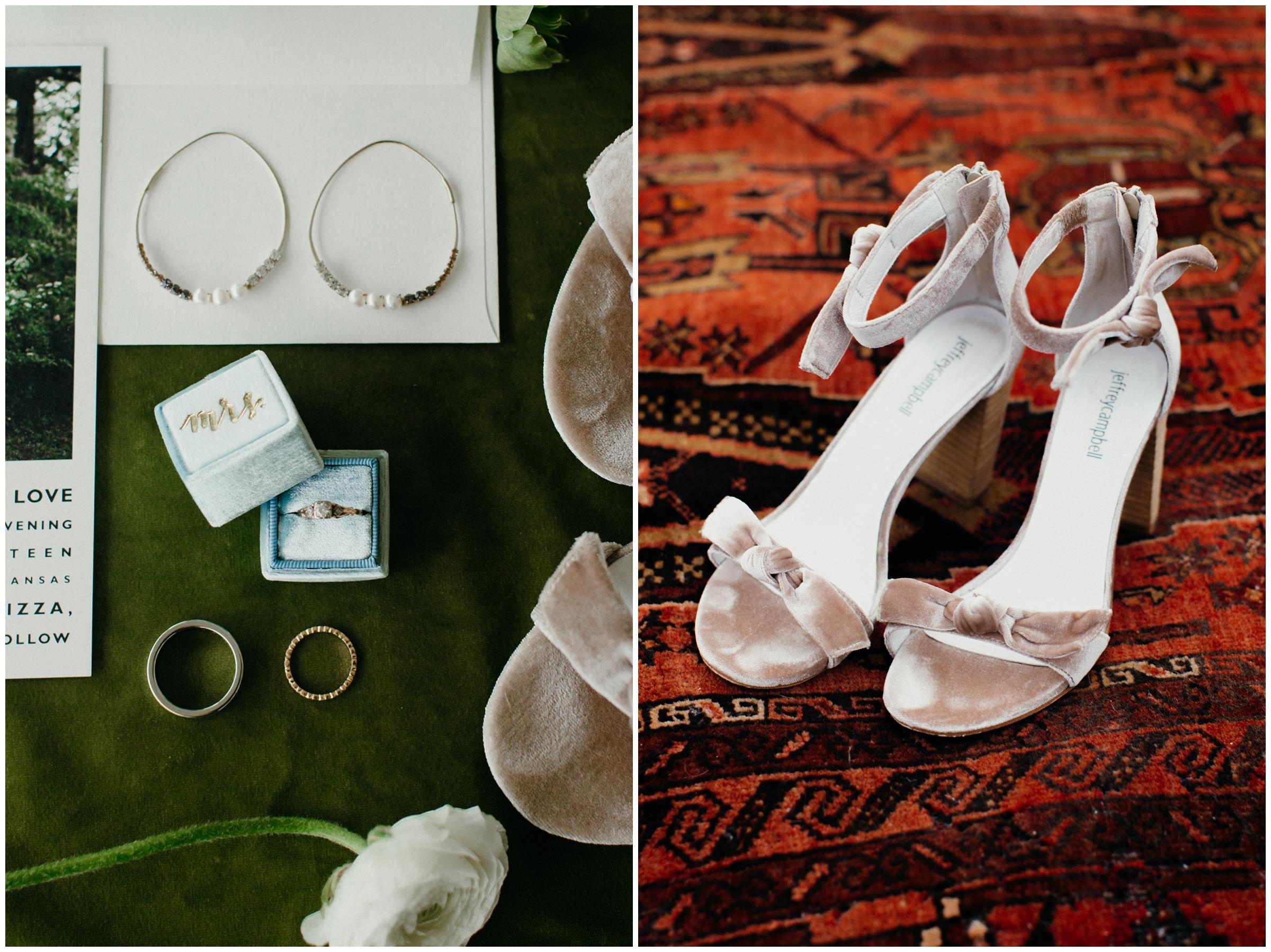 boho modern wedding details