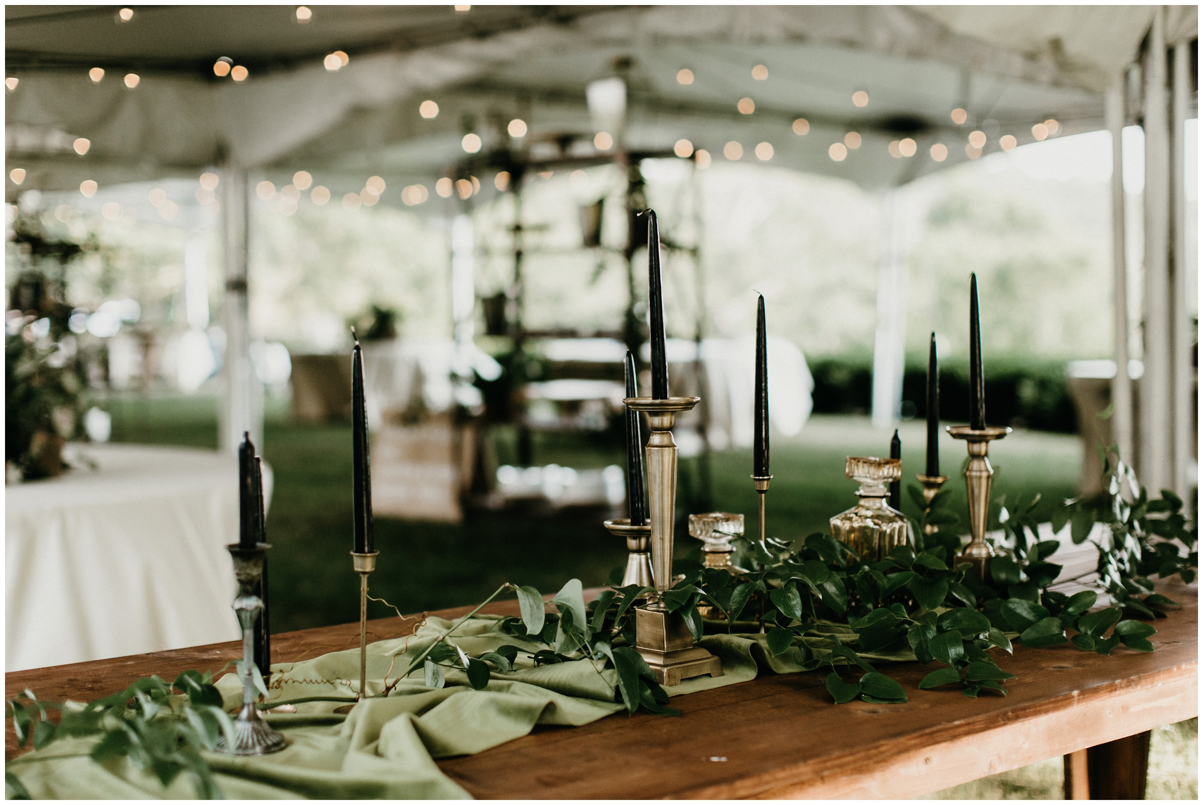 green velvet table runner