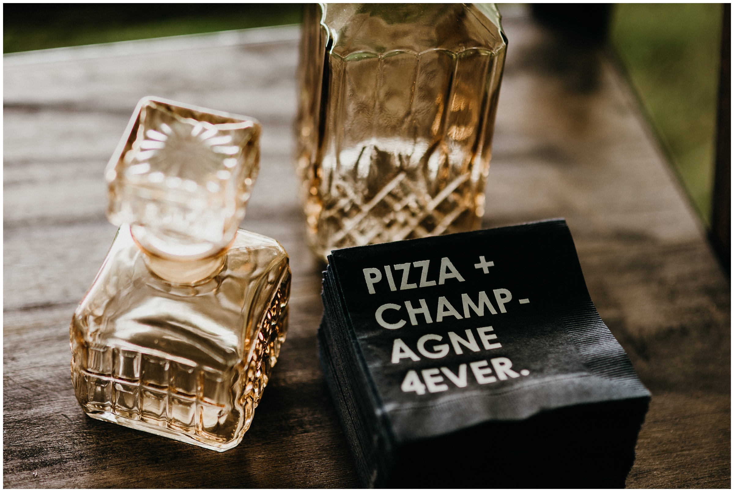 pizza + champagne 4ever napkin