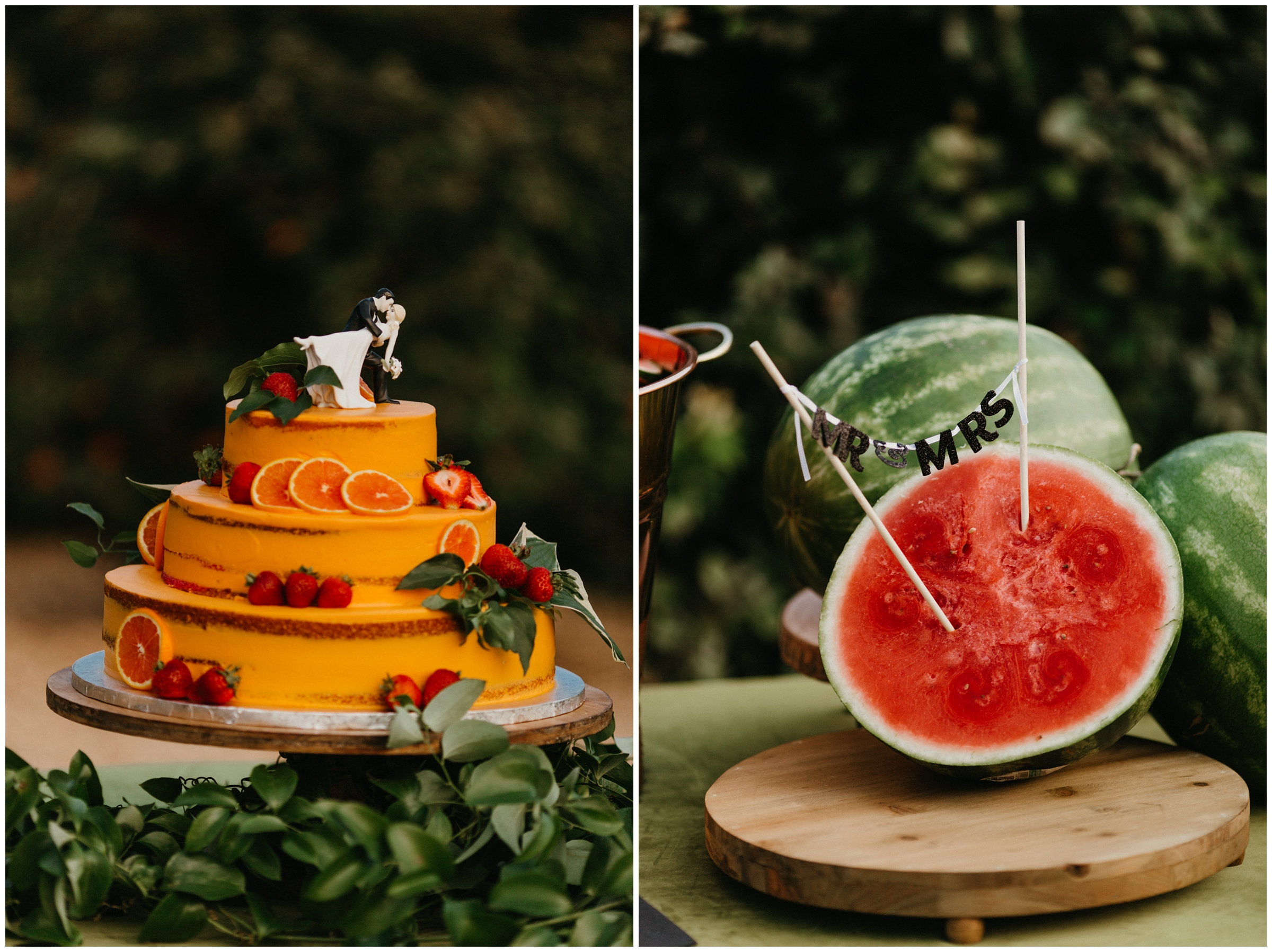 orange wedding cake shelby lynne cakes