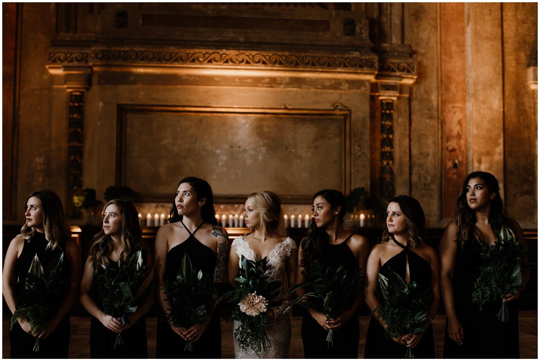 dark and moody wedding photography