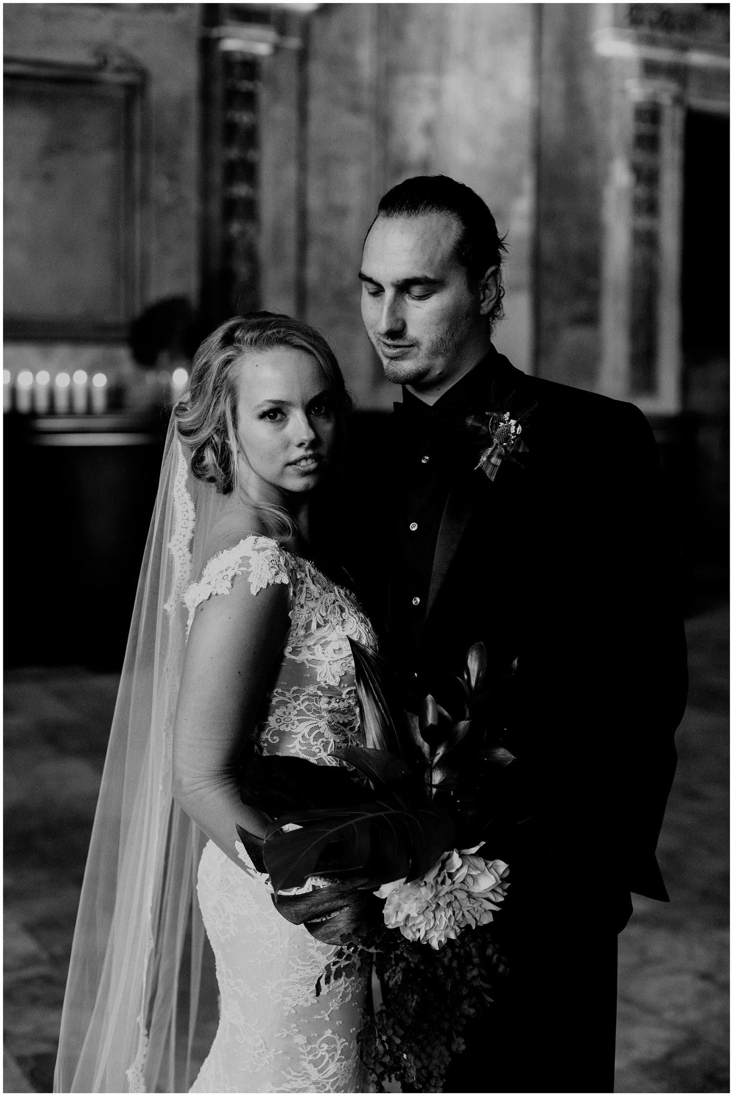 elegant bride and groom at 16th street station
