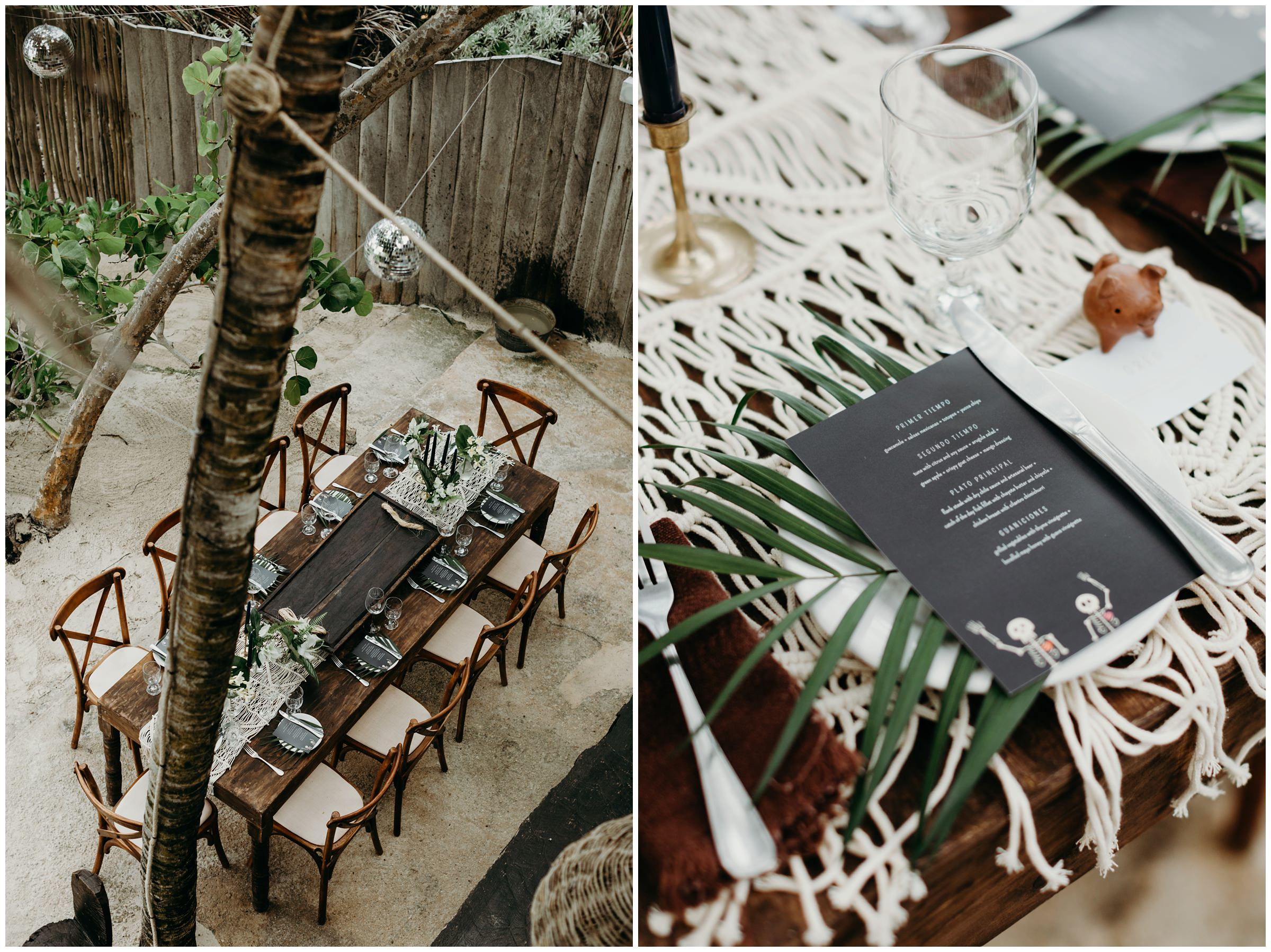 bohemian details at mexico wedding