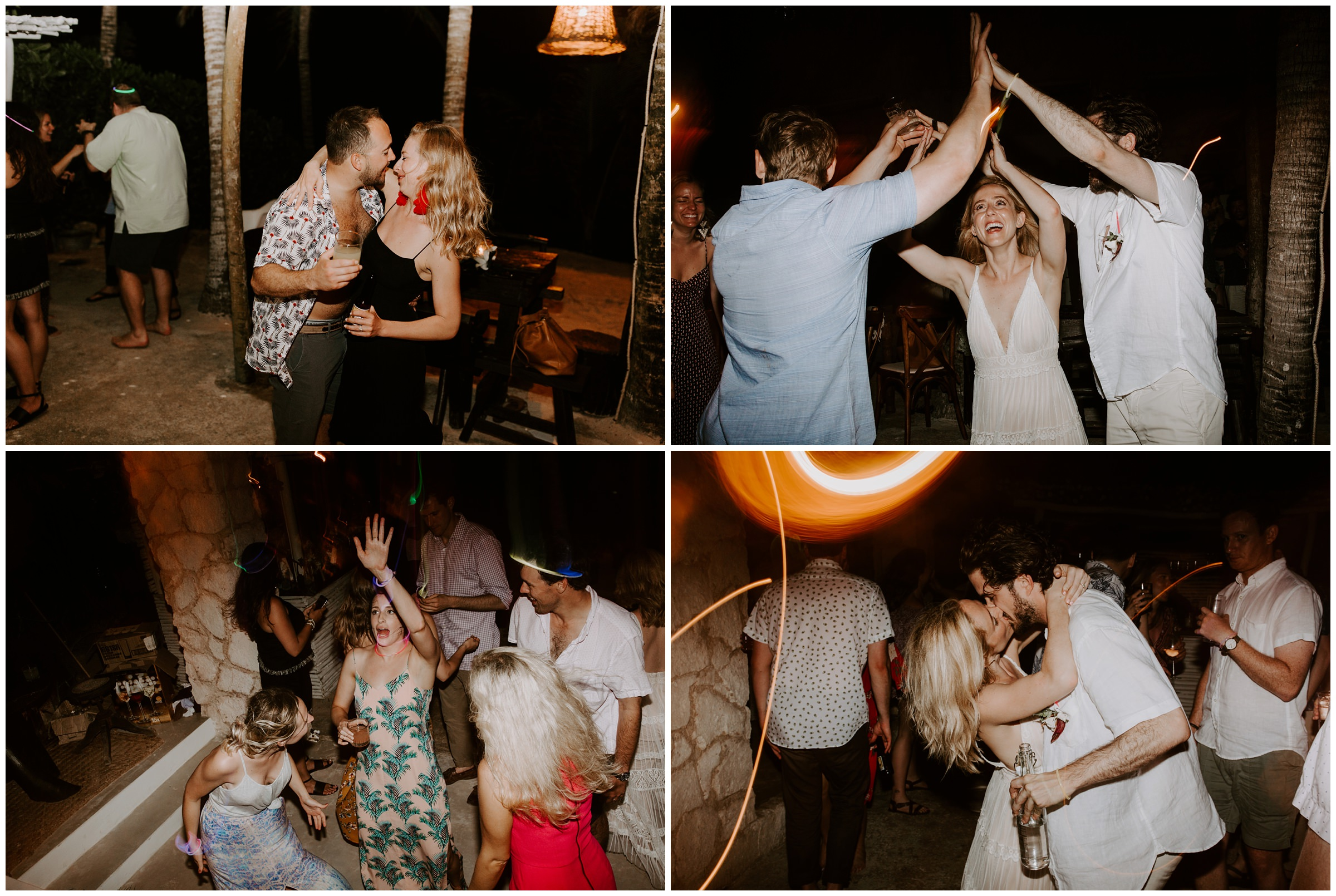 crazy dance party at wedding
