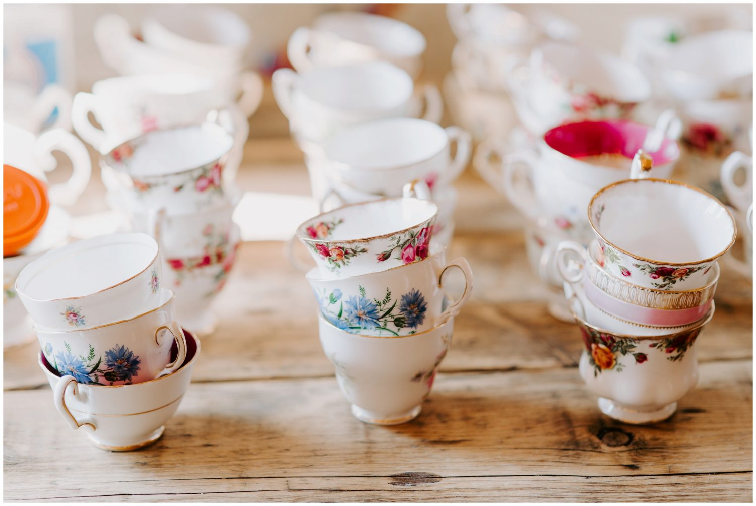 teacups at wedding