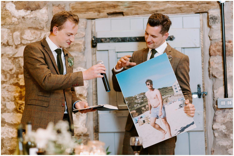 groomsmen embarrass groom
