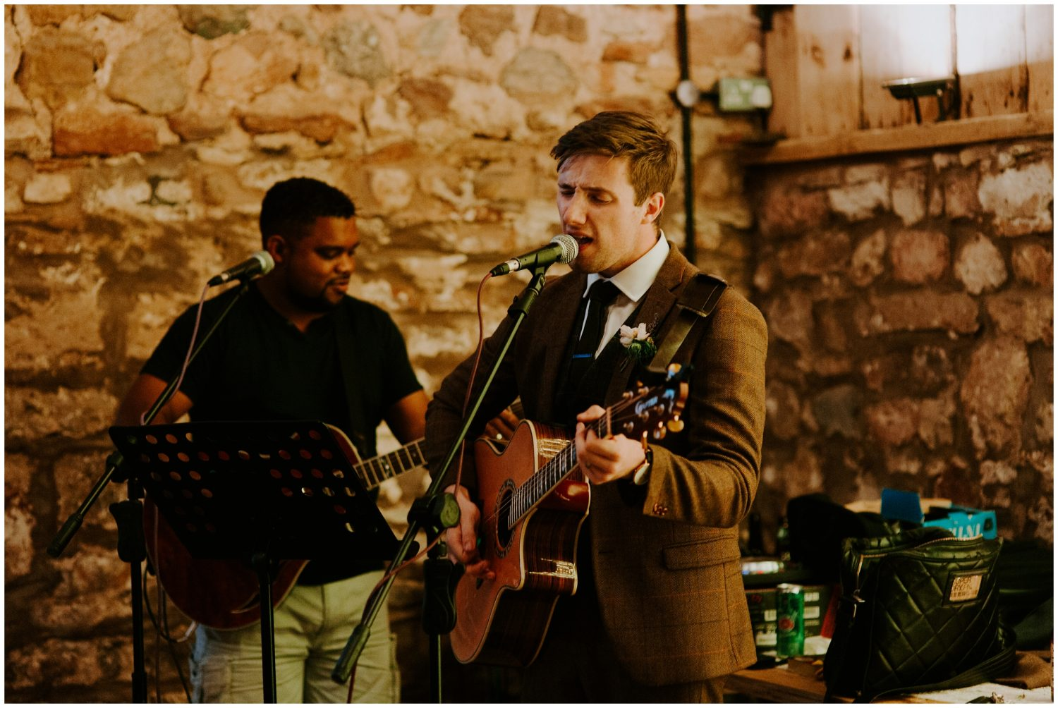 groom singing to bride