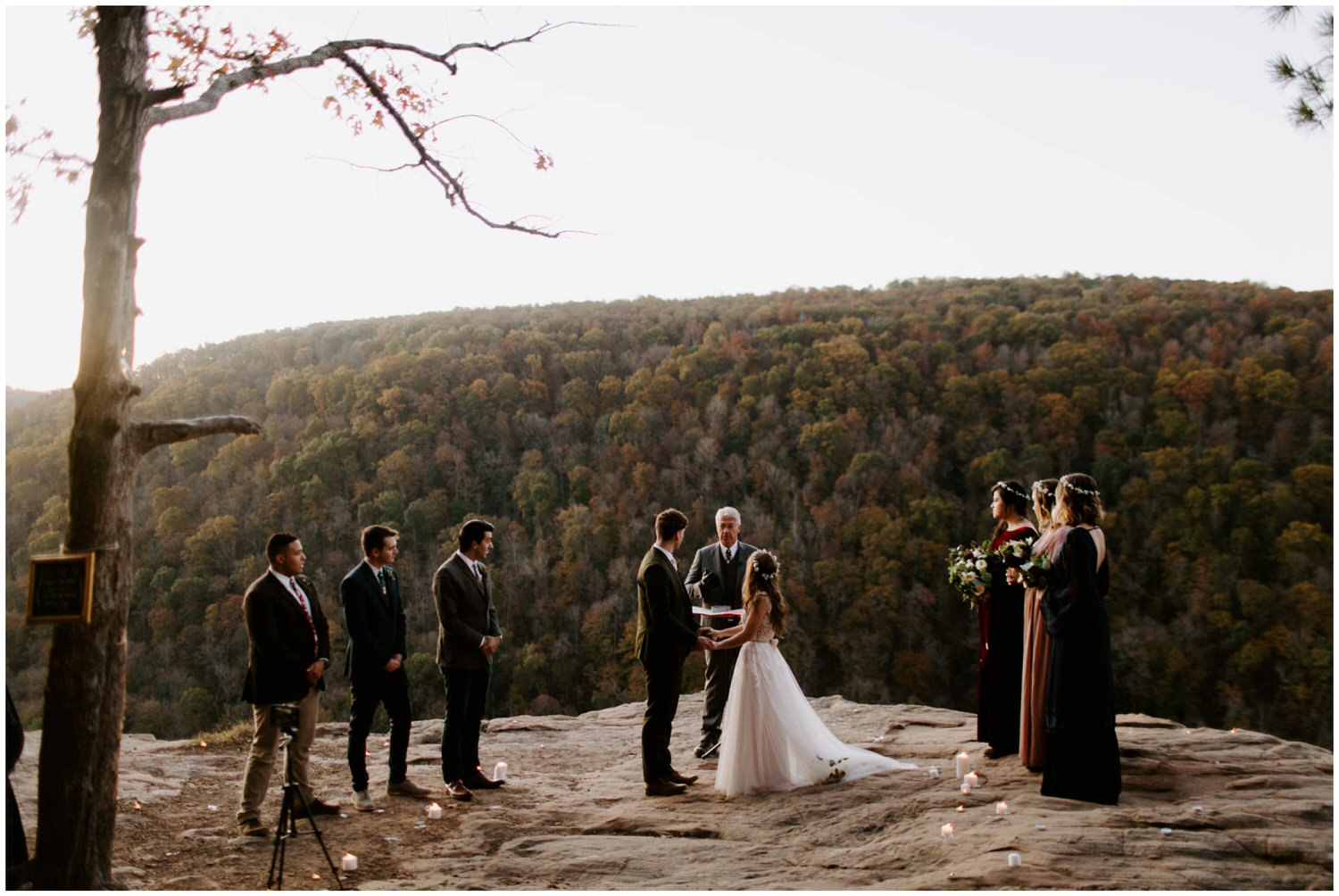 whitaker point cliffside adventurous wedding