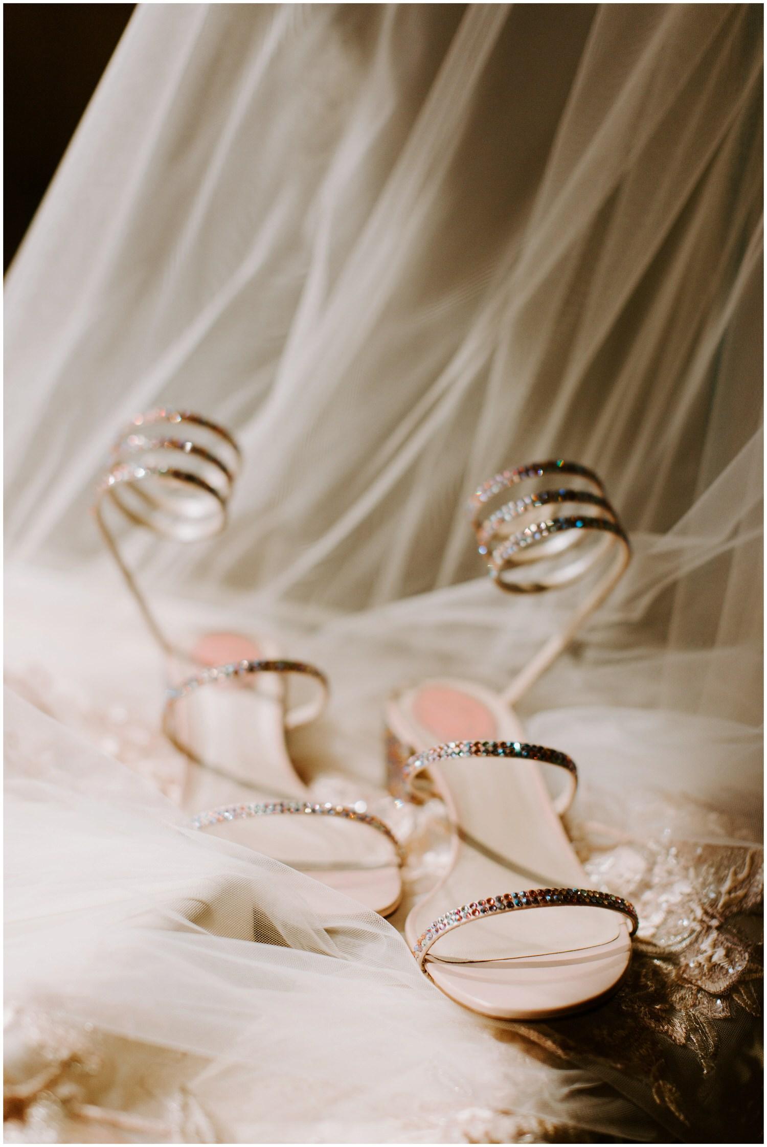 rene caovilla snake wrap satin sandal wedding shoes