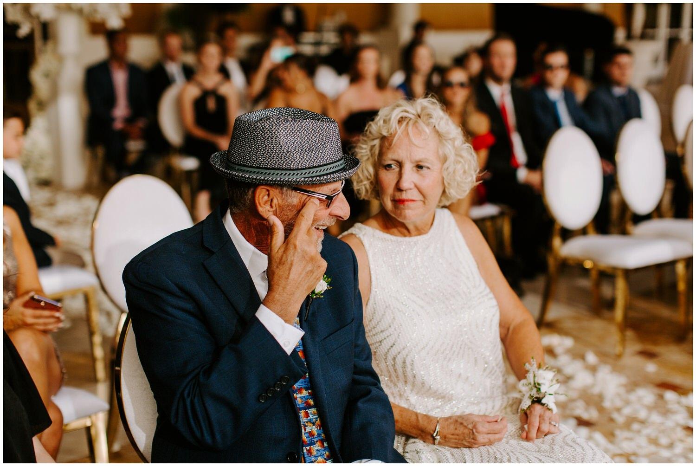 grooms dad crying at wedding