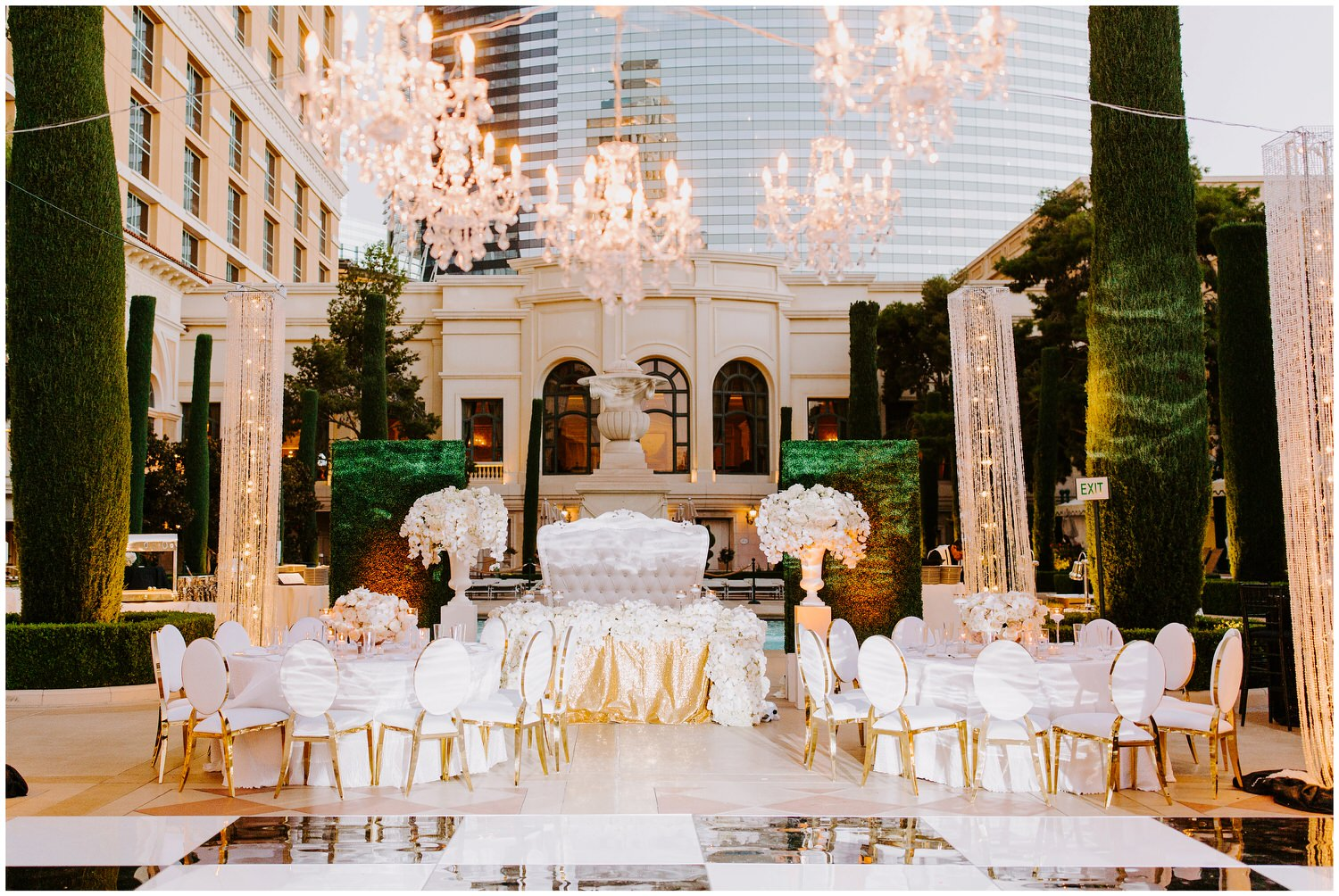 tory l cooper design at bellagio wedding