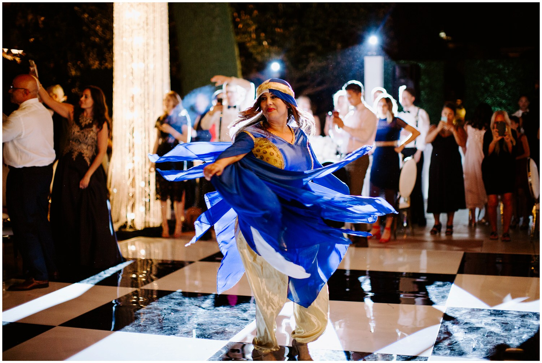 lebanese dance performance at wedding reception