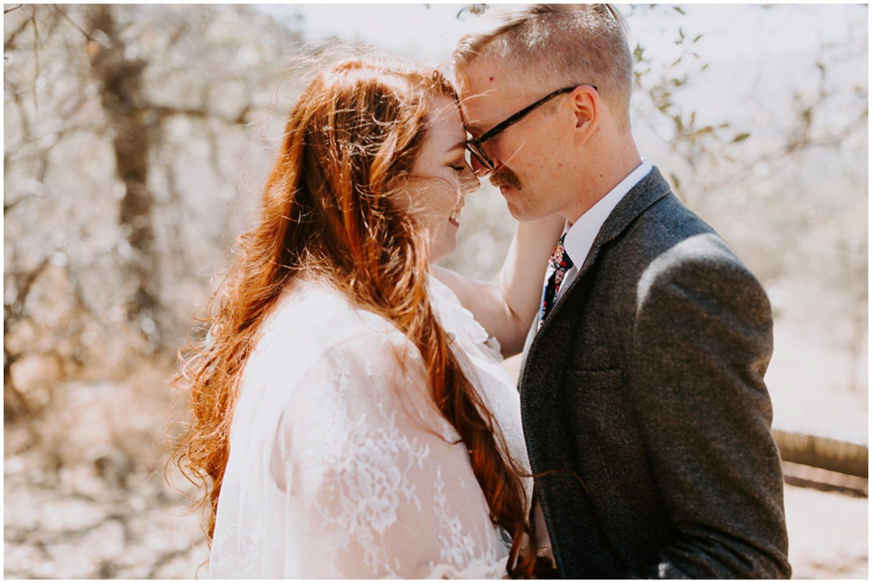 hipster wedding couple