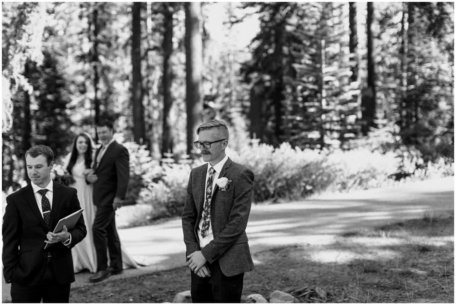 groom getting emotional during ceremony