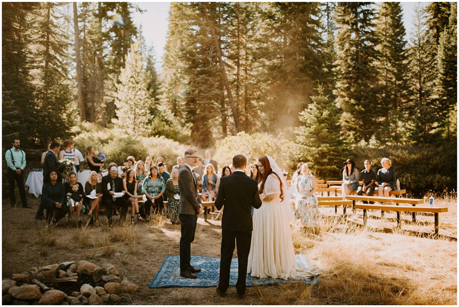 sequoia national park intimate wedding ceremony