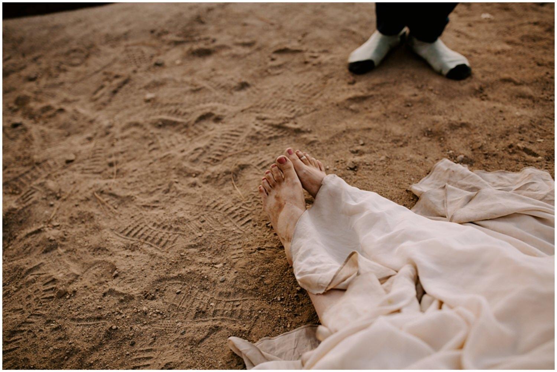 dirt feet at wedding